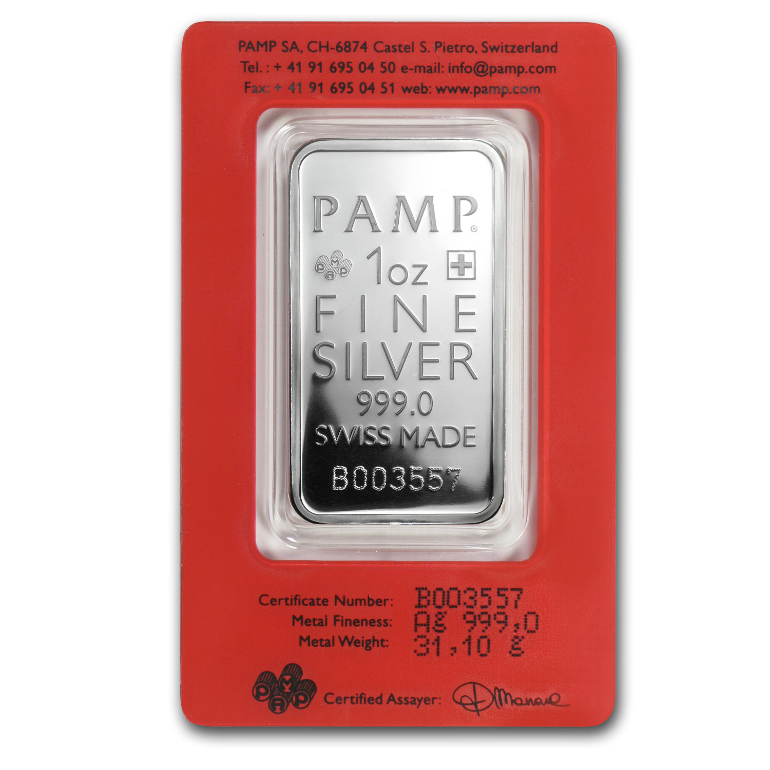 1 oz Silver Bars - Pamp Suisse (True Happiness)