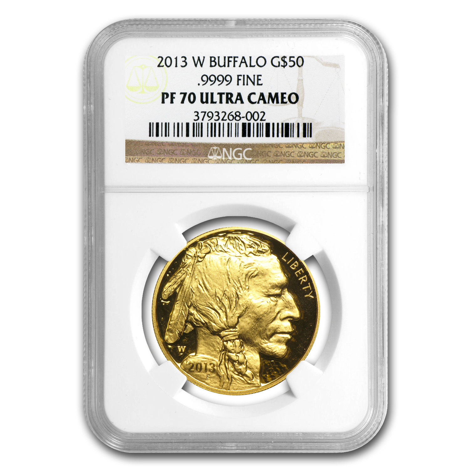 2013-W 1 oz Proof Gold Buffalo PF-70 NGC