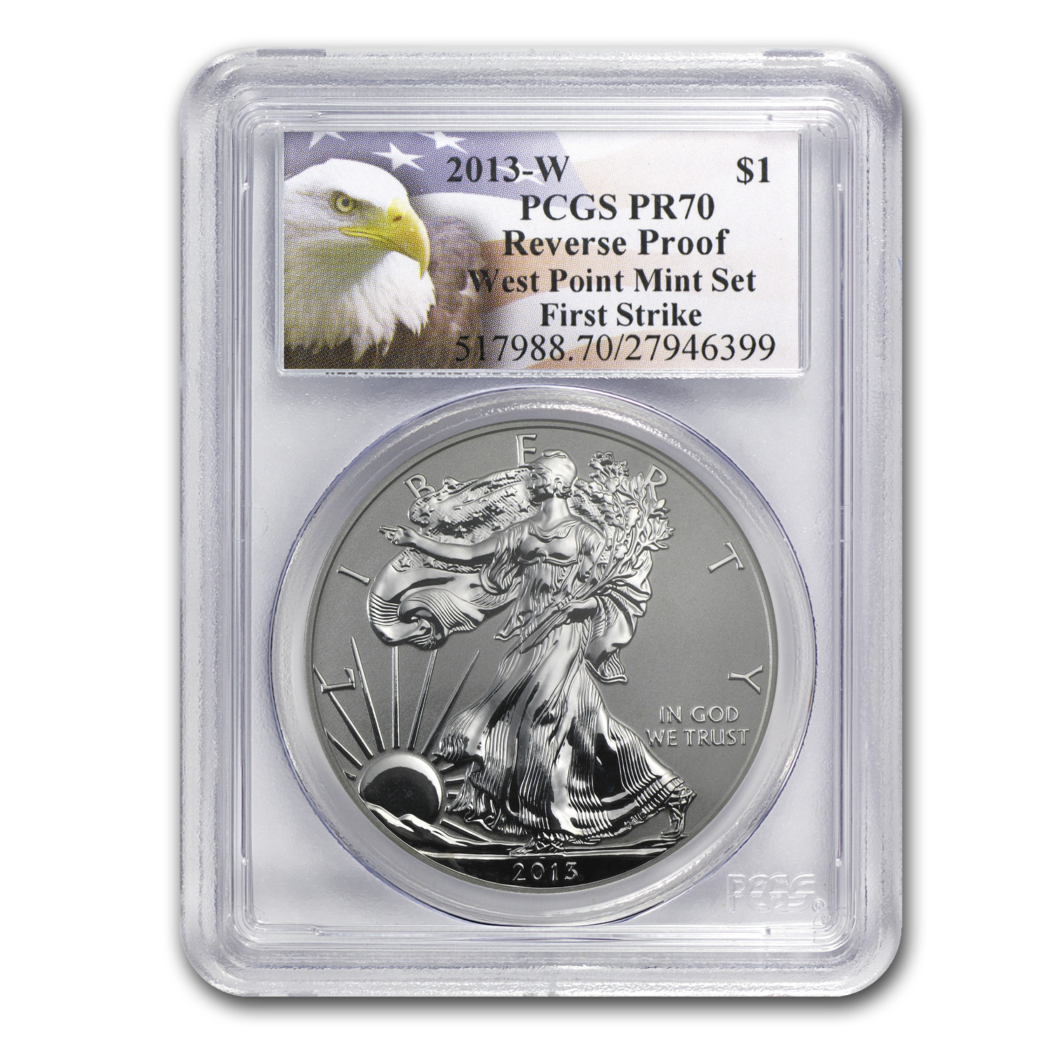 2013-W (Reverse Proof) Silver Eagle PCGS PR-70 First Strike