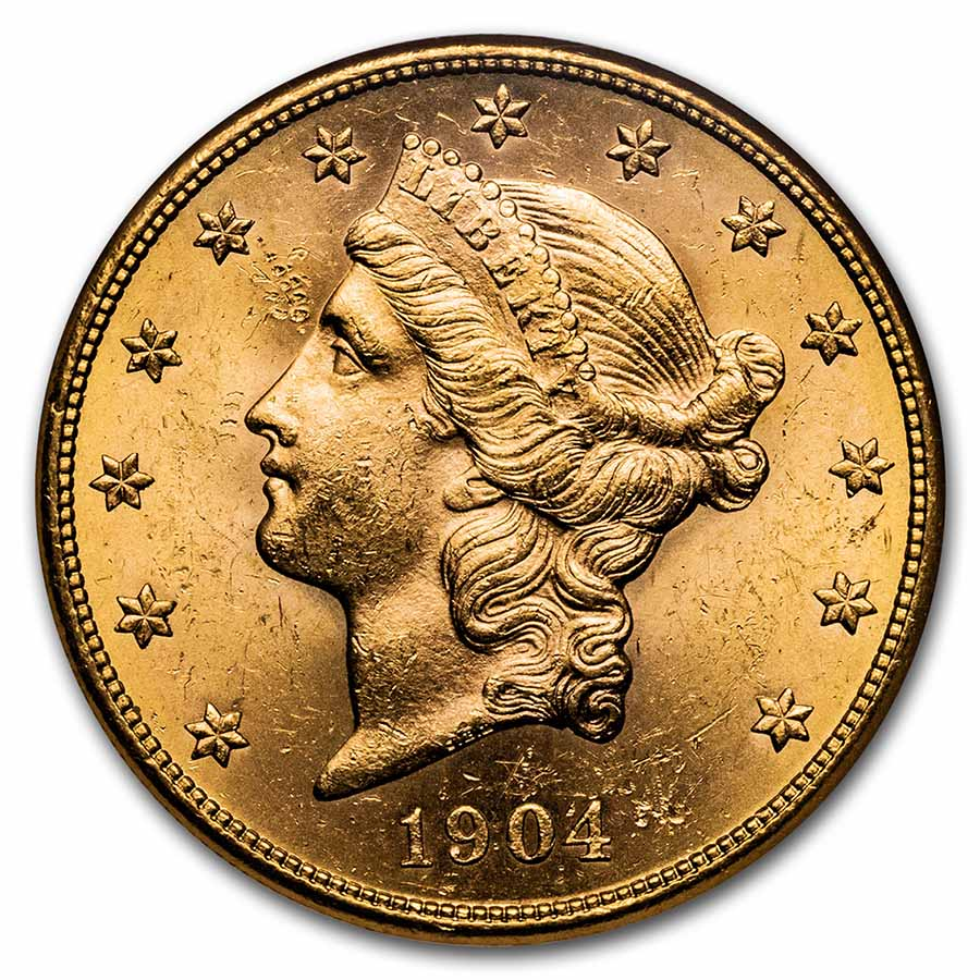 1904-S $20 Liberty Gold Double Eagle MS-63 NGC