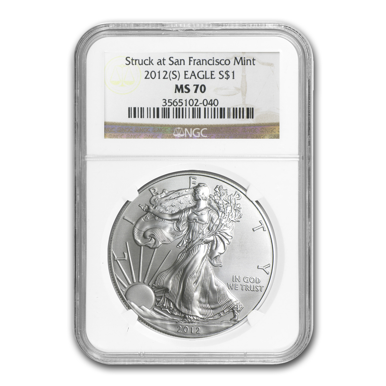 2012 (S) Silver American Eagle MS-70 NGC
