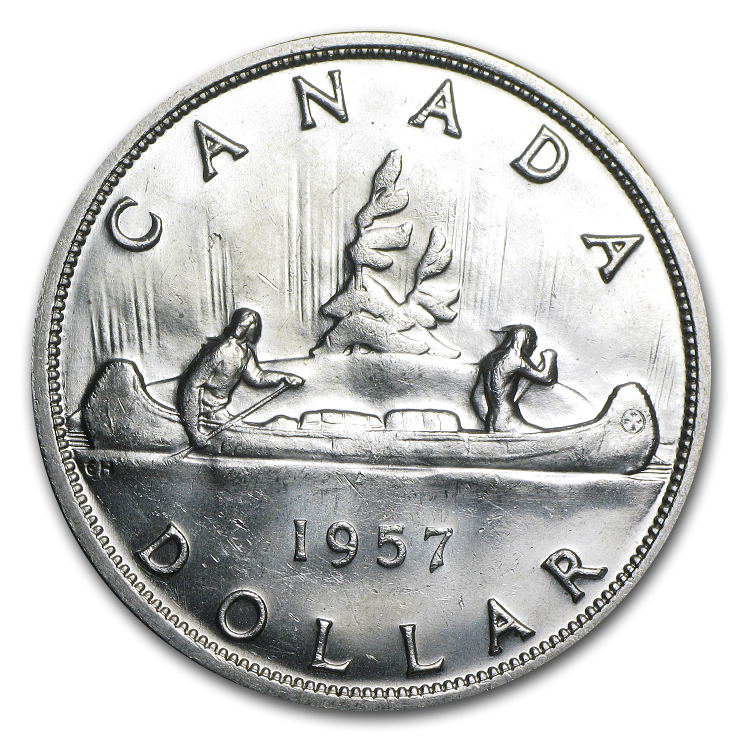 1957 Canadian Silver Dollar (Brilliant Uncirculated)