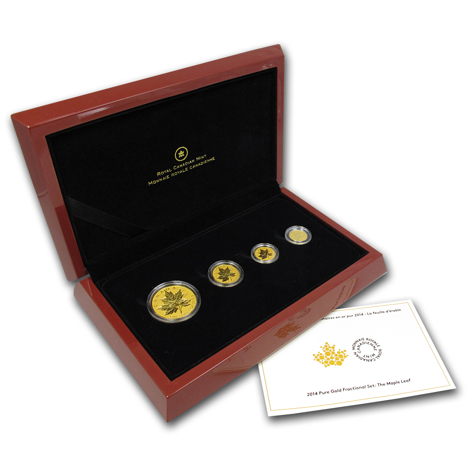2014 4-Coin Gold Canadian Fractional Maple Leaf Set (1.4 oz)