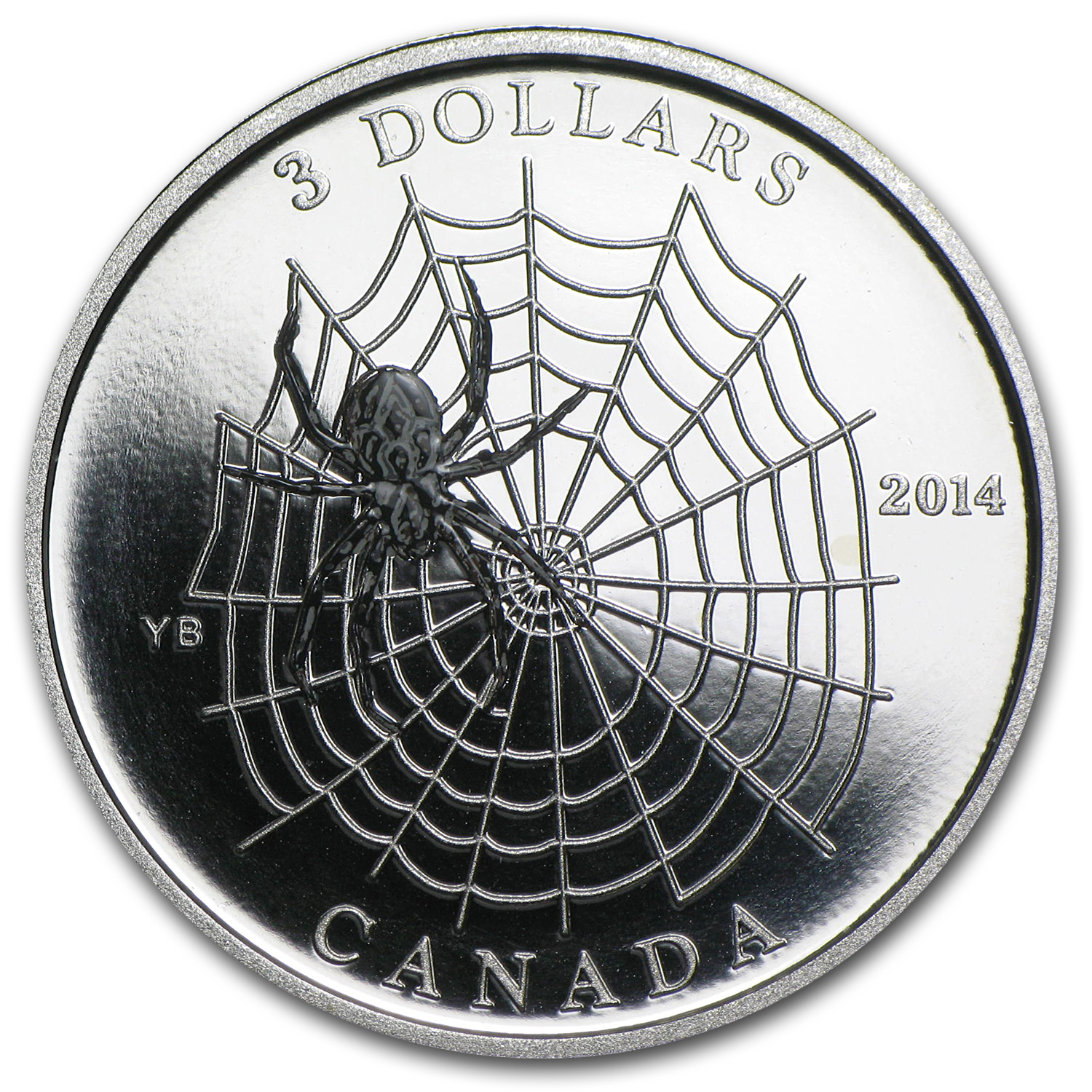 2014 1/4 oz Silver Canadian $3 Animal Architects - Spider & Web