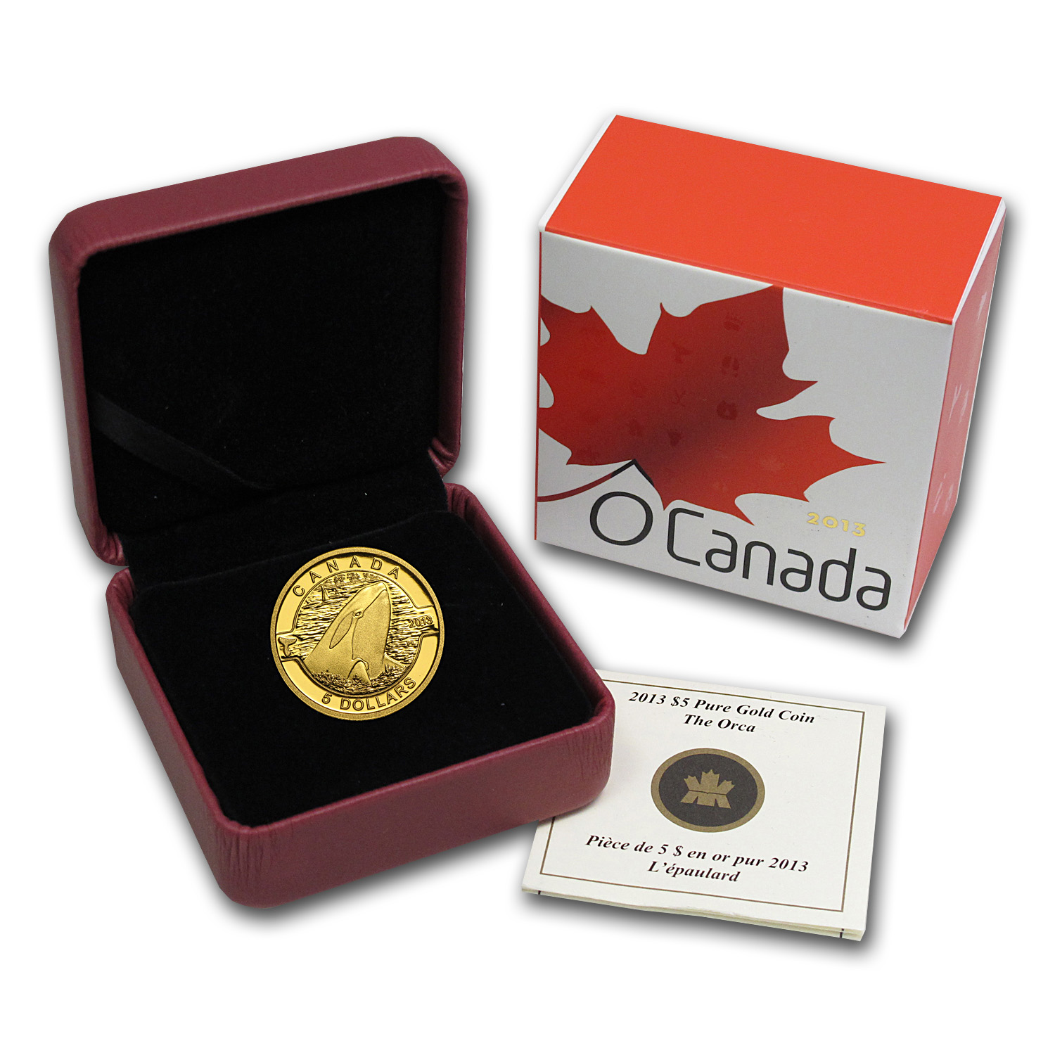 2013 Canada 1/10 oz Proof Gold $5 Orca