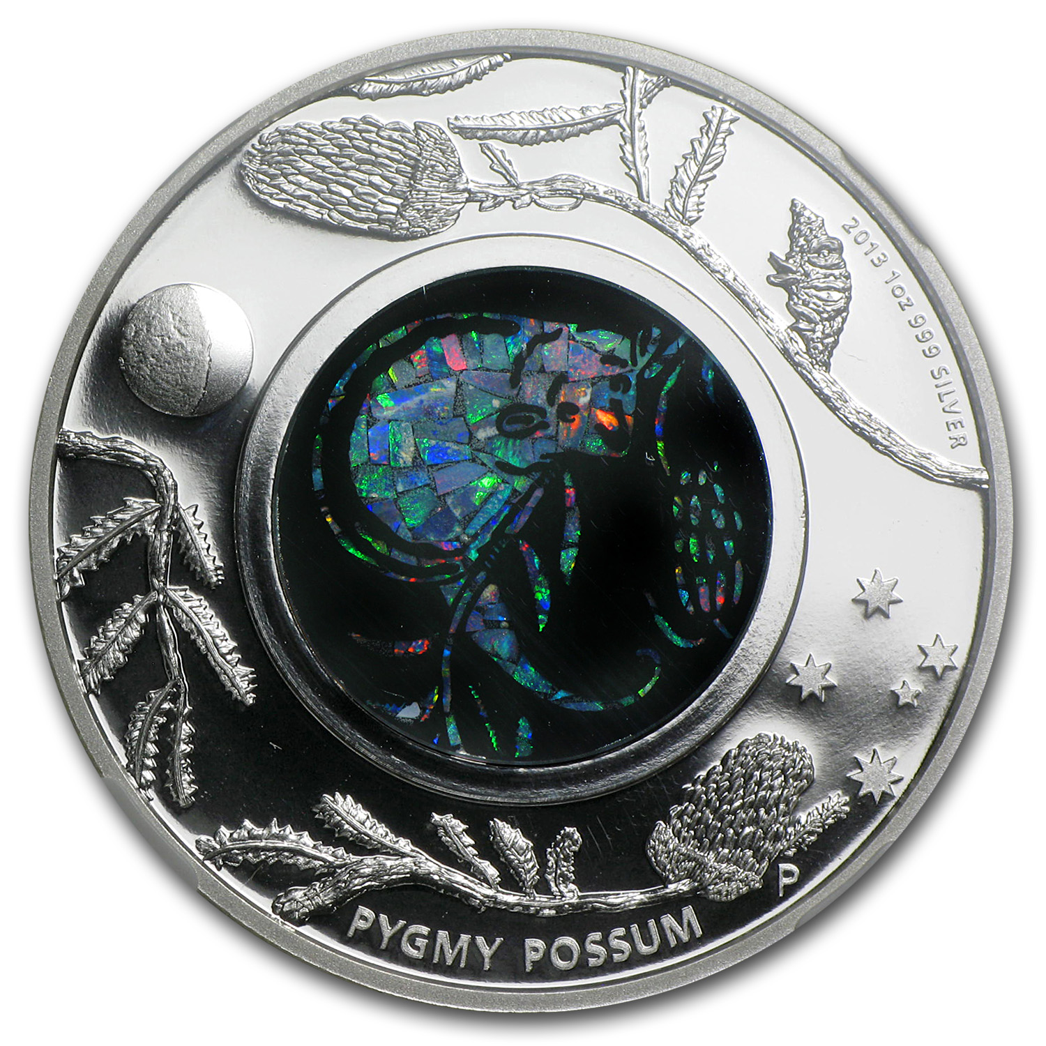2013 1 oz Proof Silver Pygmy Possum - Opal Series PF-70 NGC