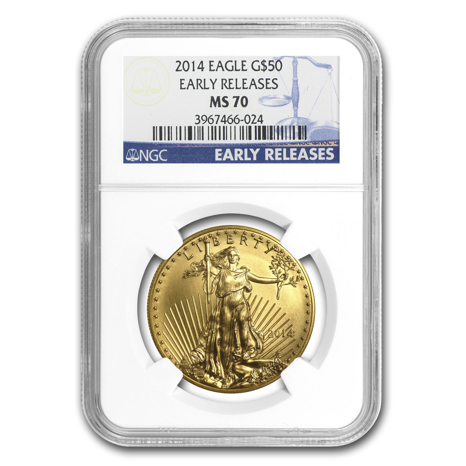 2014 1 oz Gold American Eagle MS-70 NGC (Early Releases)
