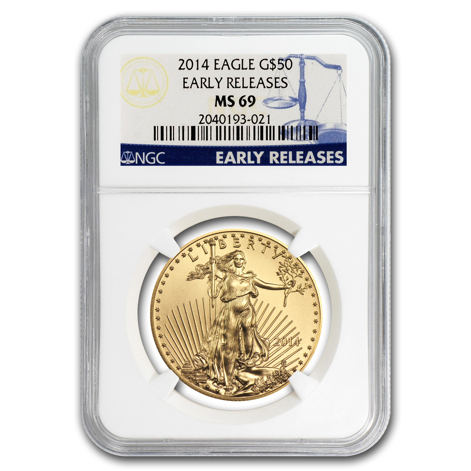 2014 1 oz Gold American Eagle MS-69 NGC (Early Releases)
