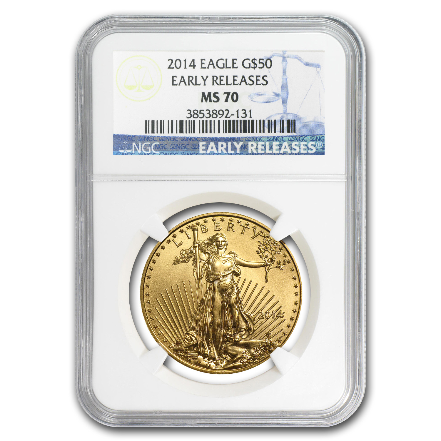 2014 4-Coin Gold American Eagle Set MS-70 NGC (Early Releases)