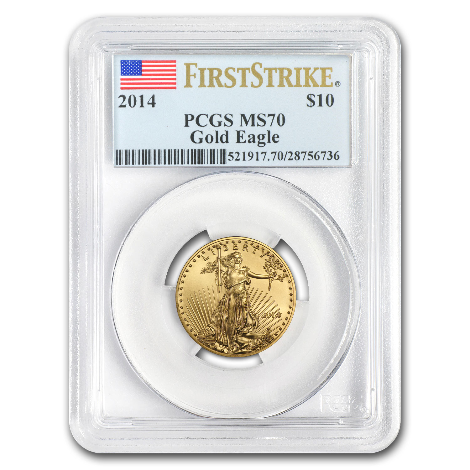 2014 1/4 oz Gold American Eagle MS-70 PCGS (FS)