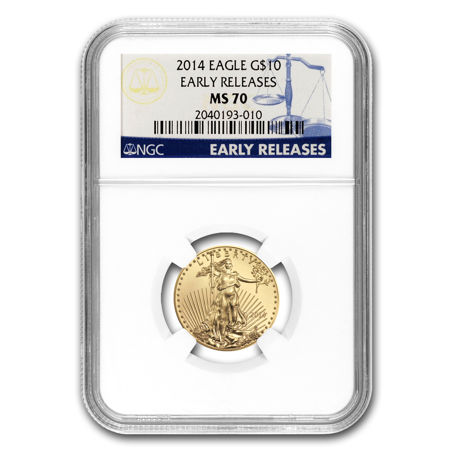 2014 1/4 oz Gold American Eagle MS-70 NGC (Early Releases)