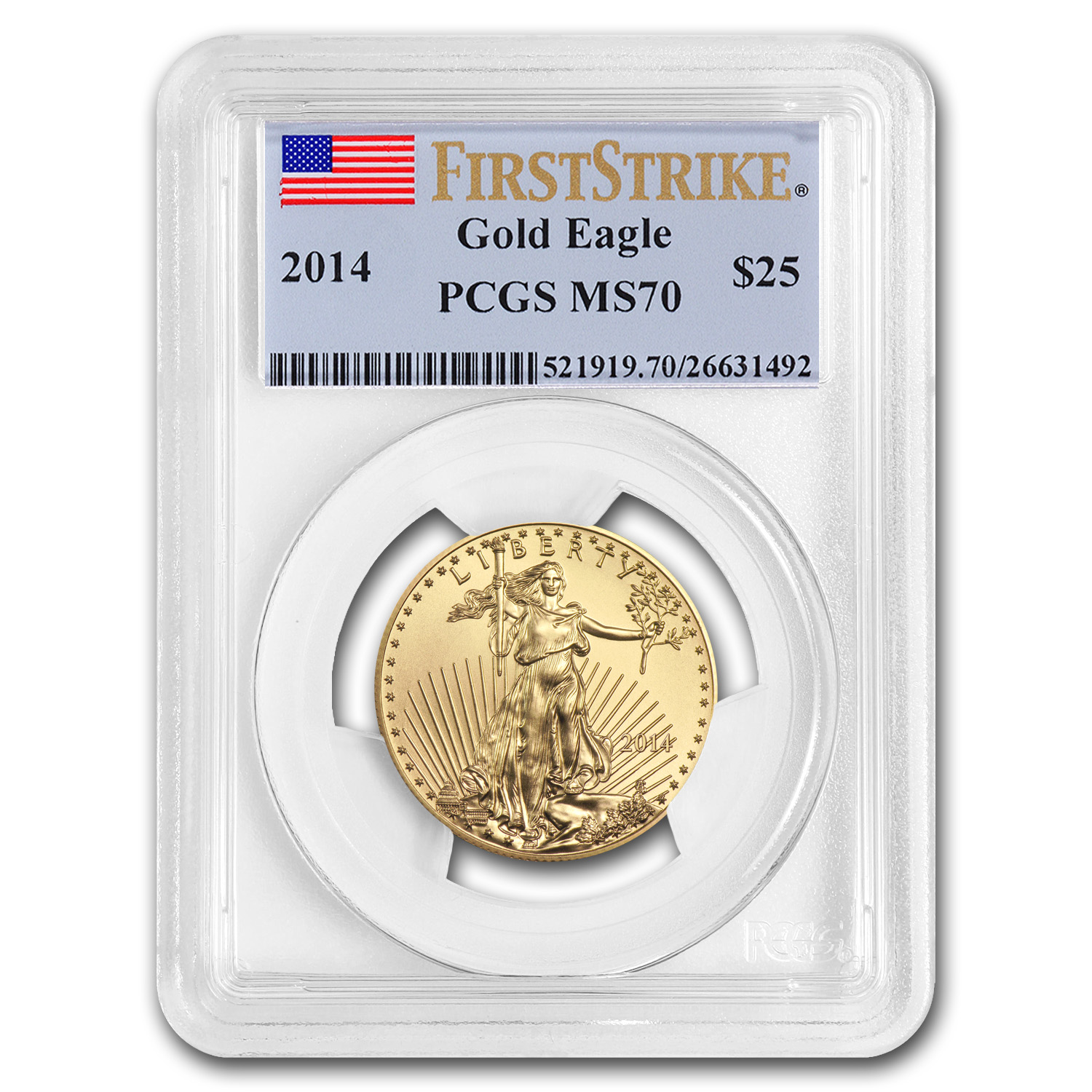 2014 1/2 oz Gold American Eagle MS-70 PCGS (FS)