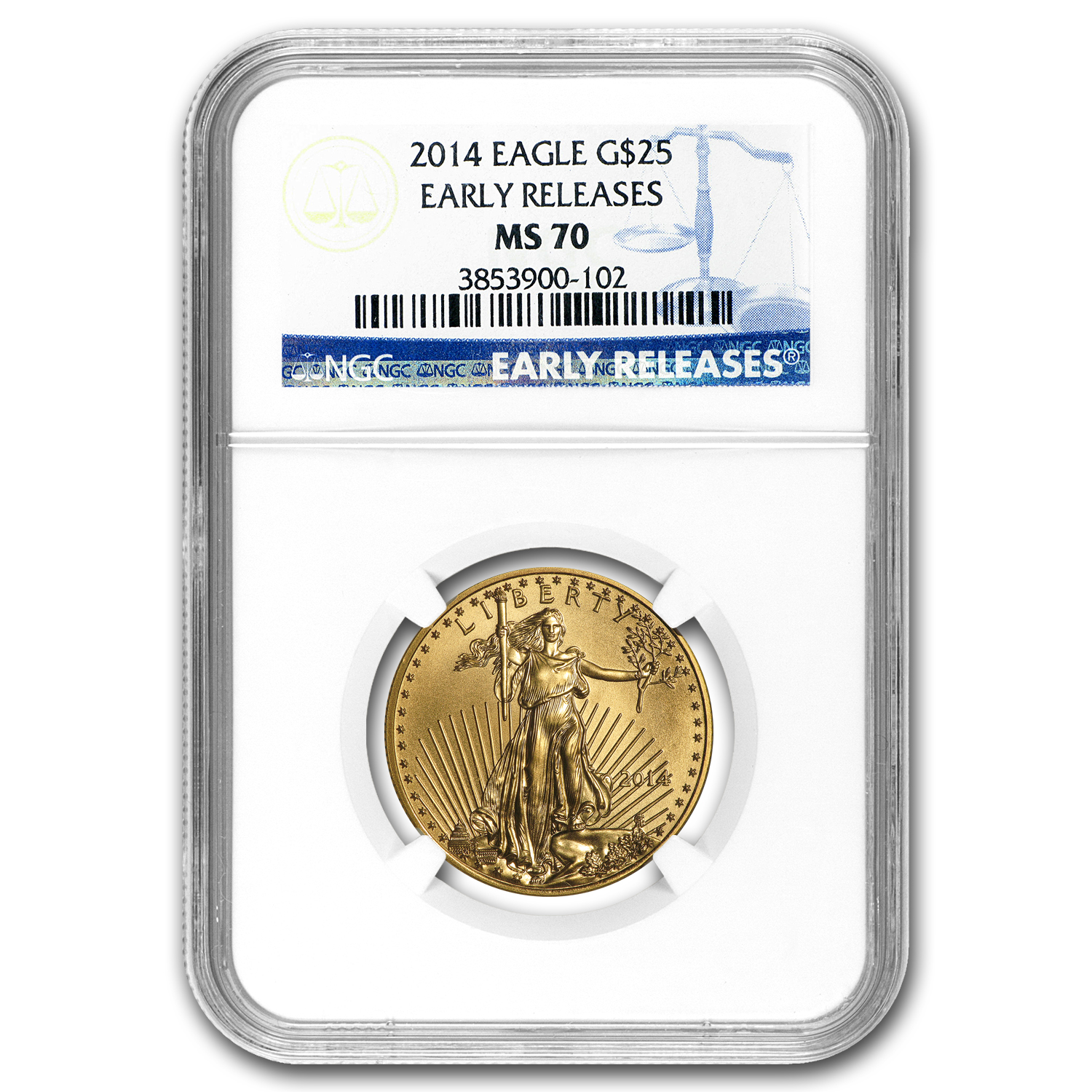 2014 1/2 oz Gold American Eagle MS-70 NGC (Early Releases)