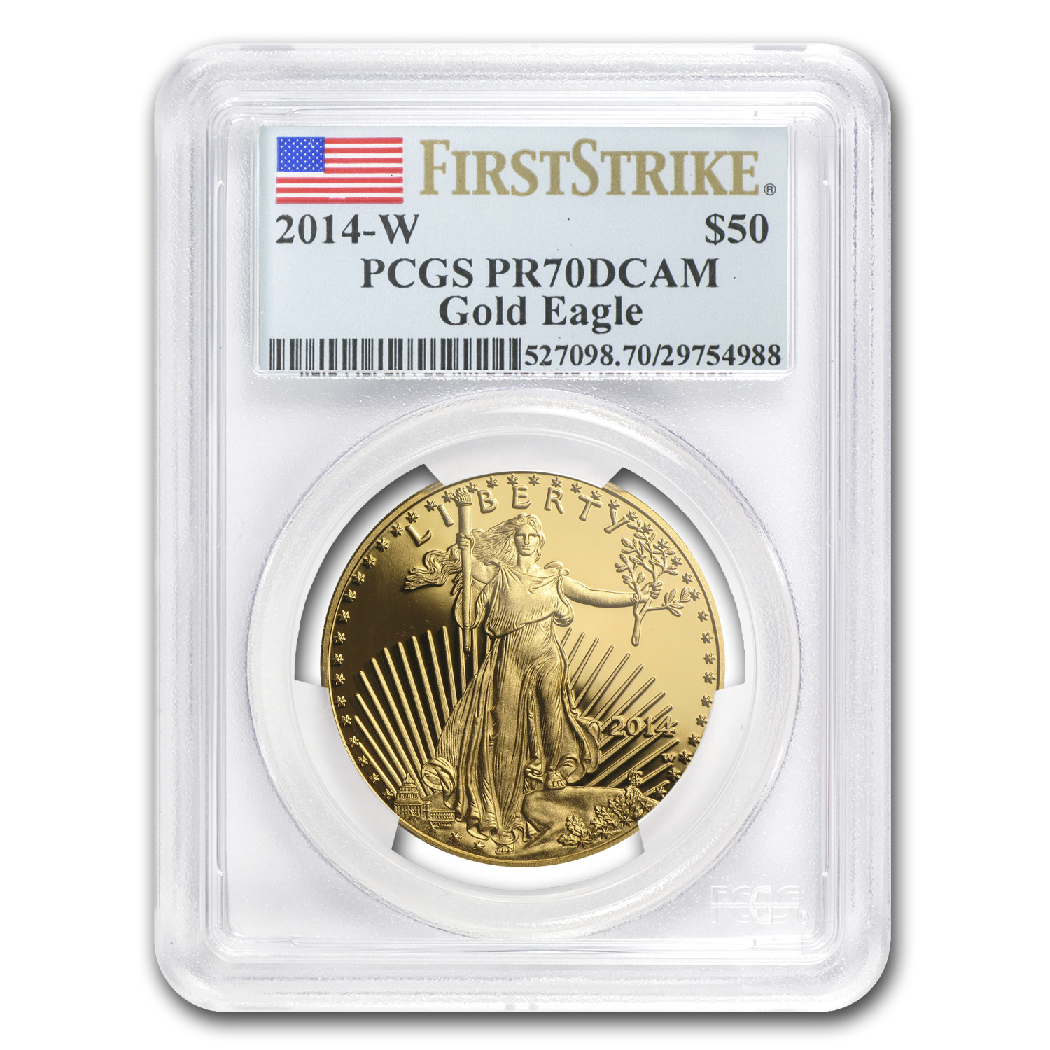2014-W 4-Coin Proof Gold Eagle Set PR-70 PCGS (FS)