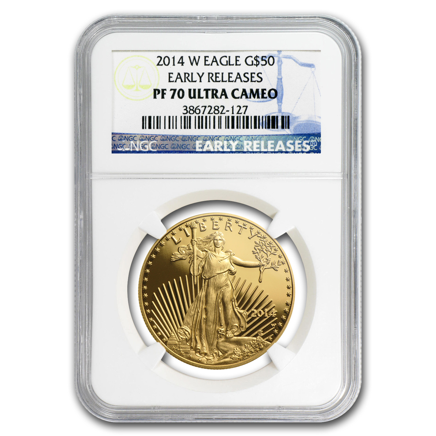 2014-W 1 oz Proof Gold American Eagle PF-70 UCAM NGC (ER)