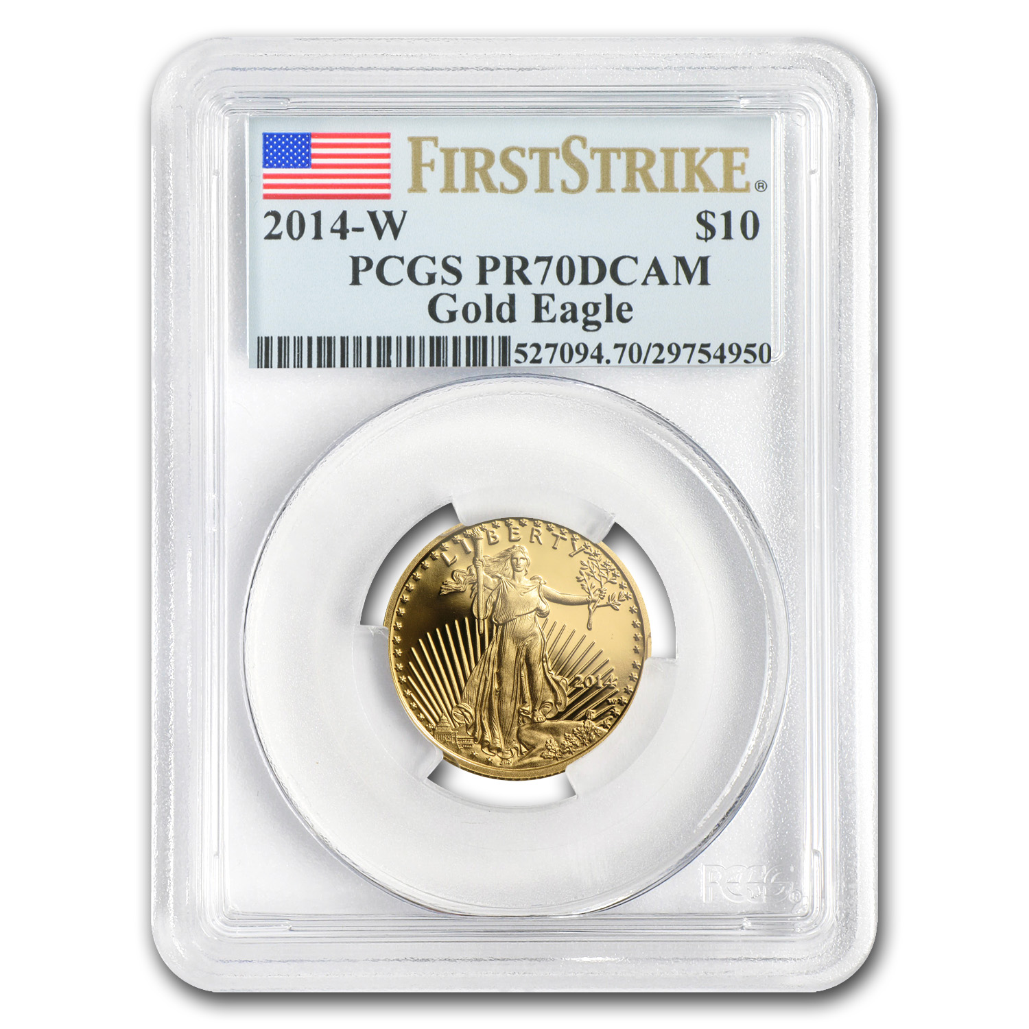 2014-W 1/4 oz Proof Gold American Eagle PR-70 PCGS - First Strike