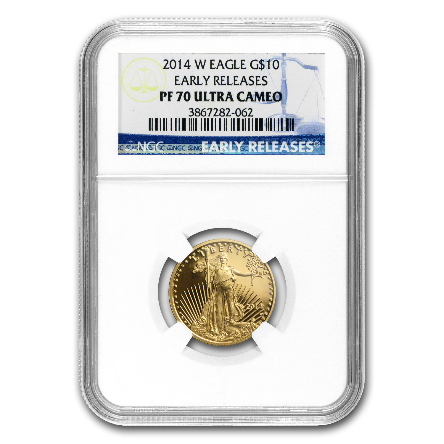 2014-W 1/4 oz Proof Gold American Eagle PF-70 NGC Early Releases