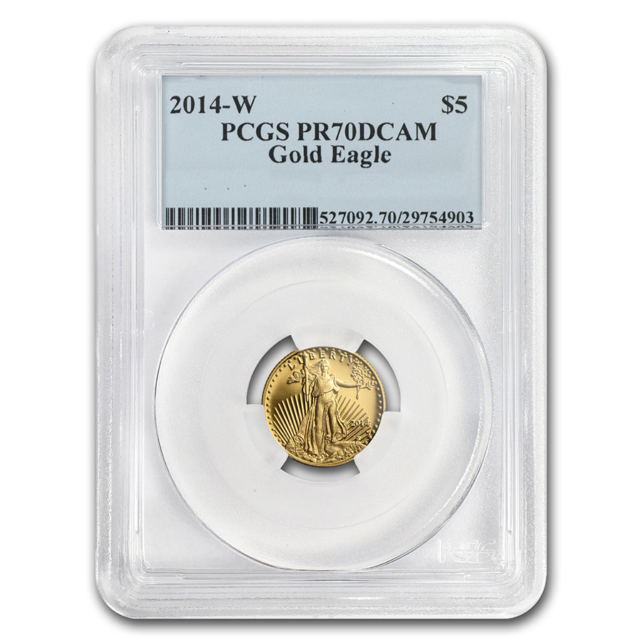 2014-W 1/10 oz Proof Gold American Eagle PR-70 PCGS First Strike