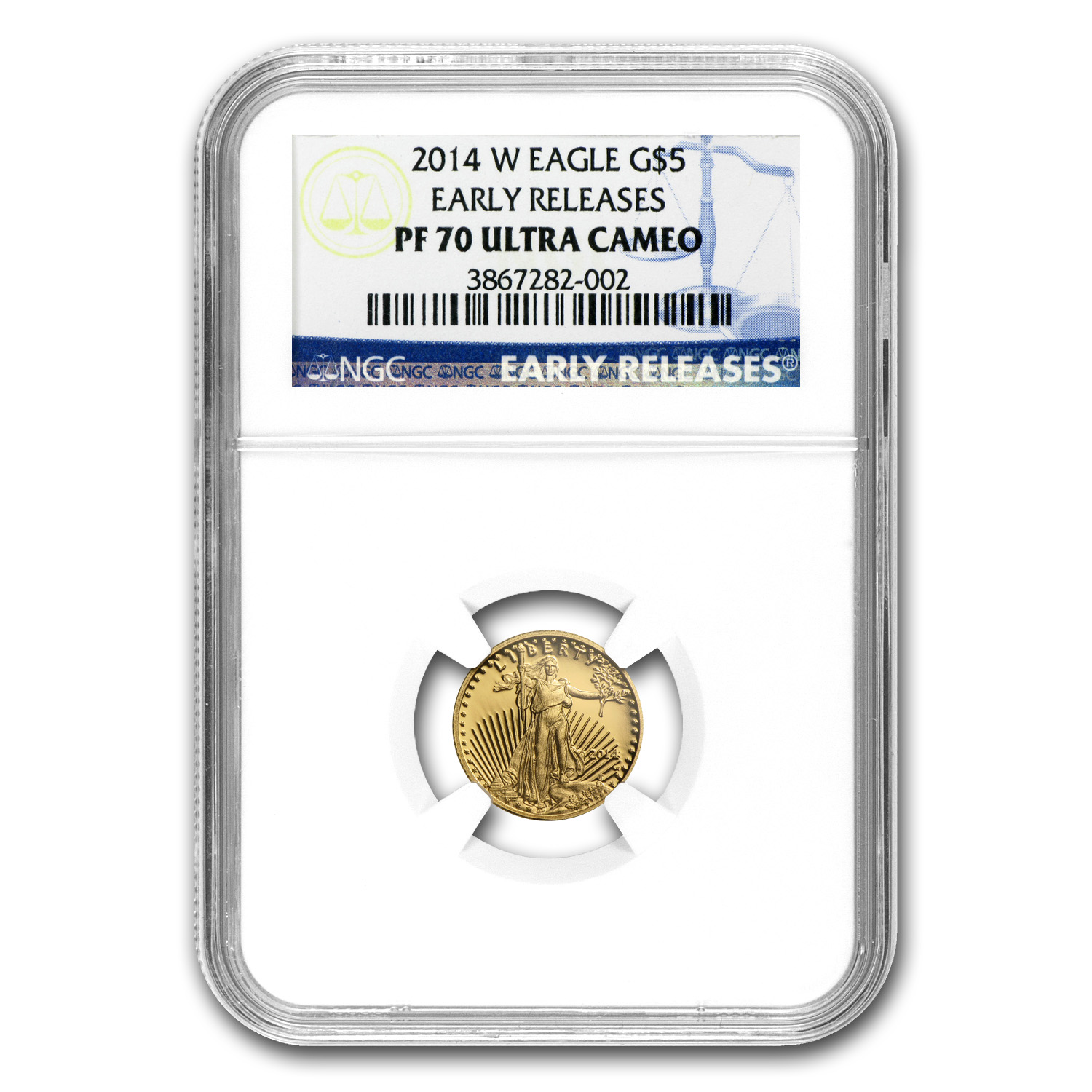 2014-W 1/10 oz Proof Gold American Eagle PF-70 NGC Early Releases
