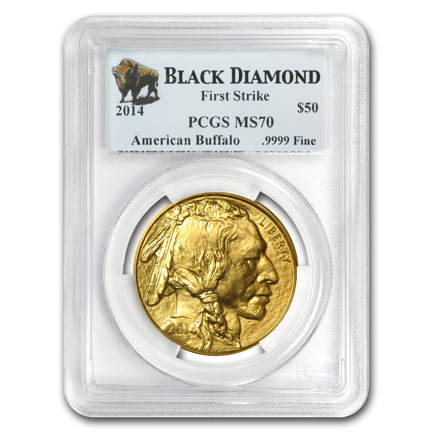 2014 1 oz Gold Buffalo MS-70 PCGS (FS, Black Diamond)