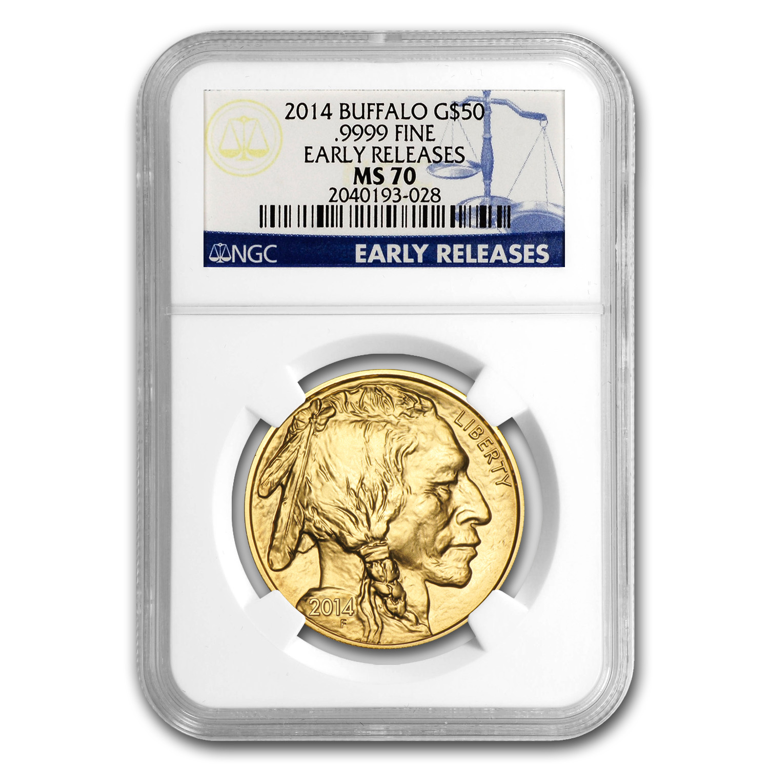 2014 1 oz Gold Buffalo MS-70 NGC (Early Releases)