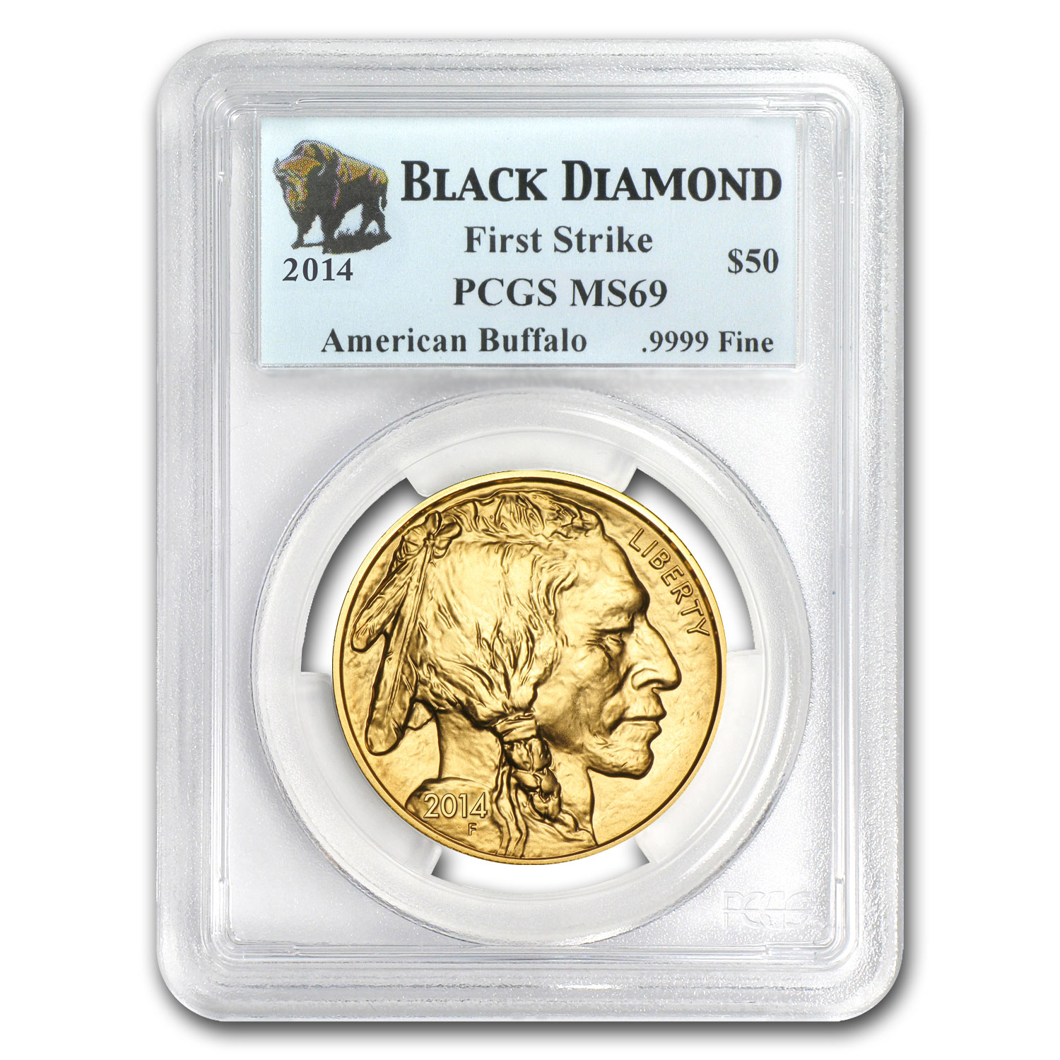 2014 1 oz Gold Buffalo MS-69 PCGS (FS, Black Diamond)