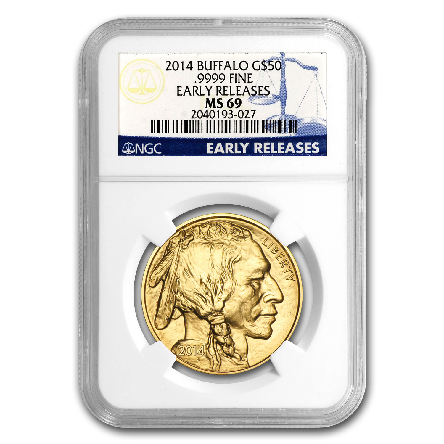 2014 1 oz Gold Buffalo MS-69 NGC (Early Releases)