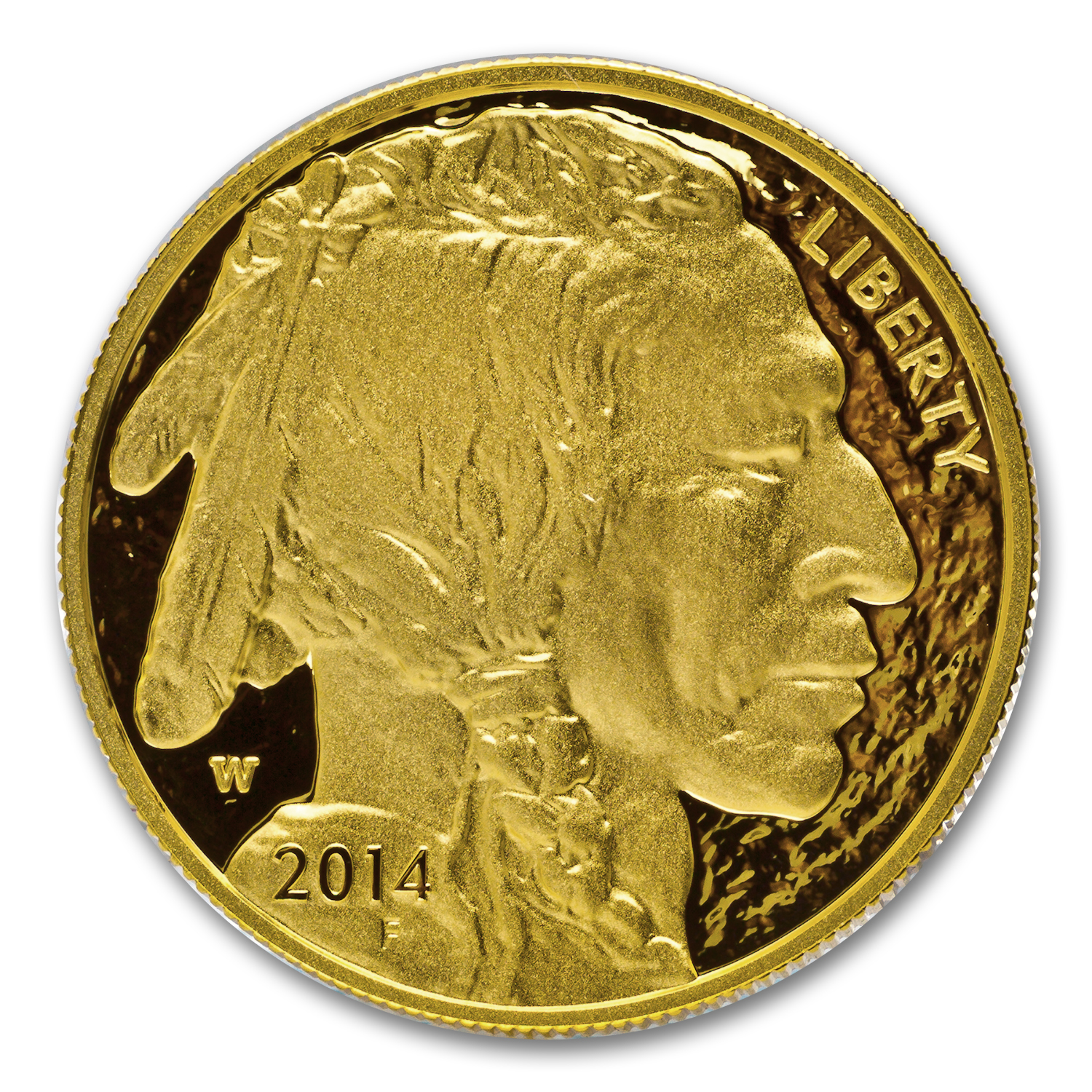 2014-W 1 oz Gold Buffalo PR-70 PCGS (FS) Black Diamond
