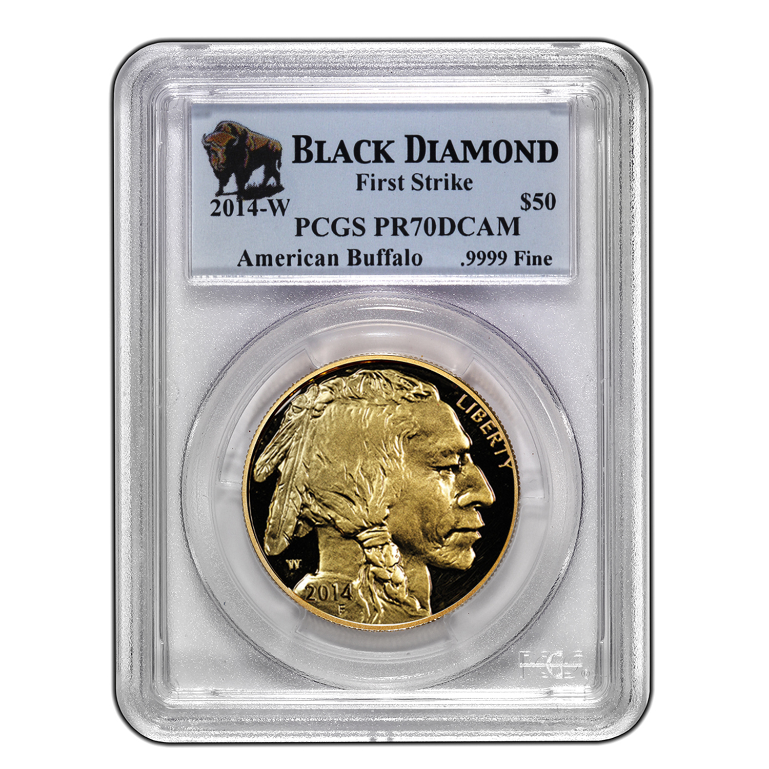 2014-W 1 oz Proof Gold Buffalo PR-70 PCGS (FS, Black Diamond)