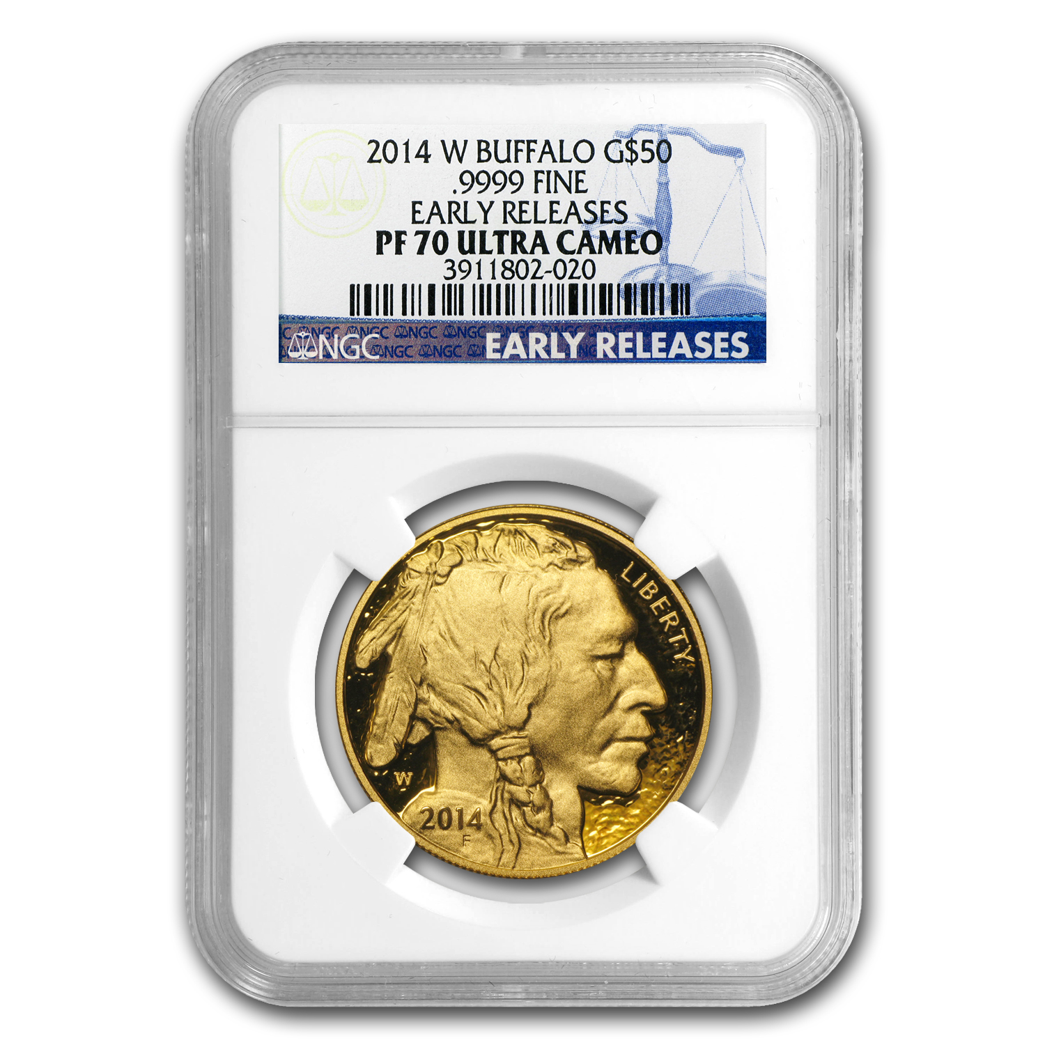 2014-W 1 oz Proof Gold Buffalo PF-70 NGC Early Releases