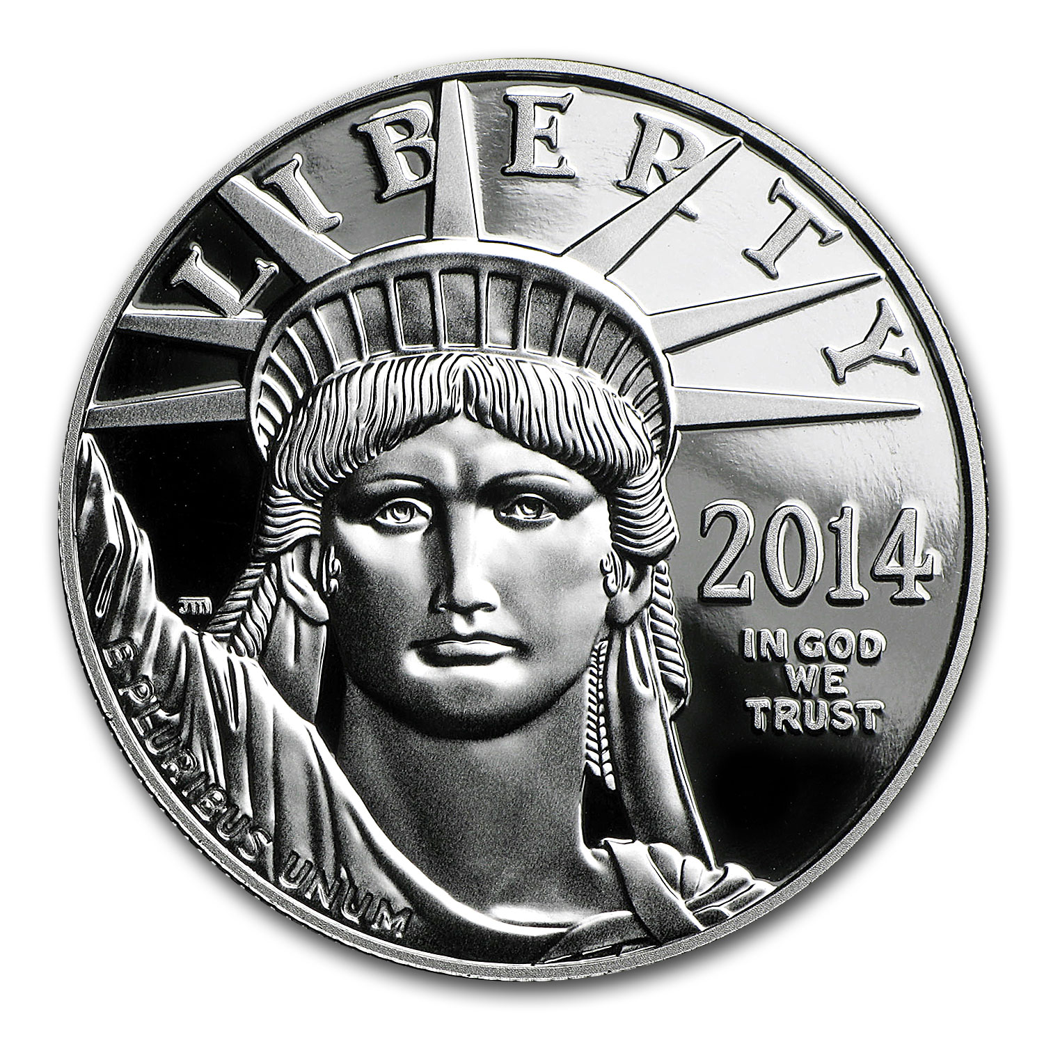 2014-W 1 oz Proof Platinum American Eagle (w/Box & COA)