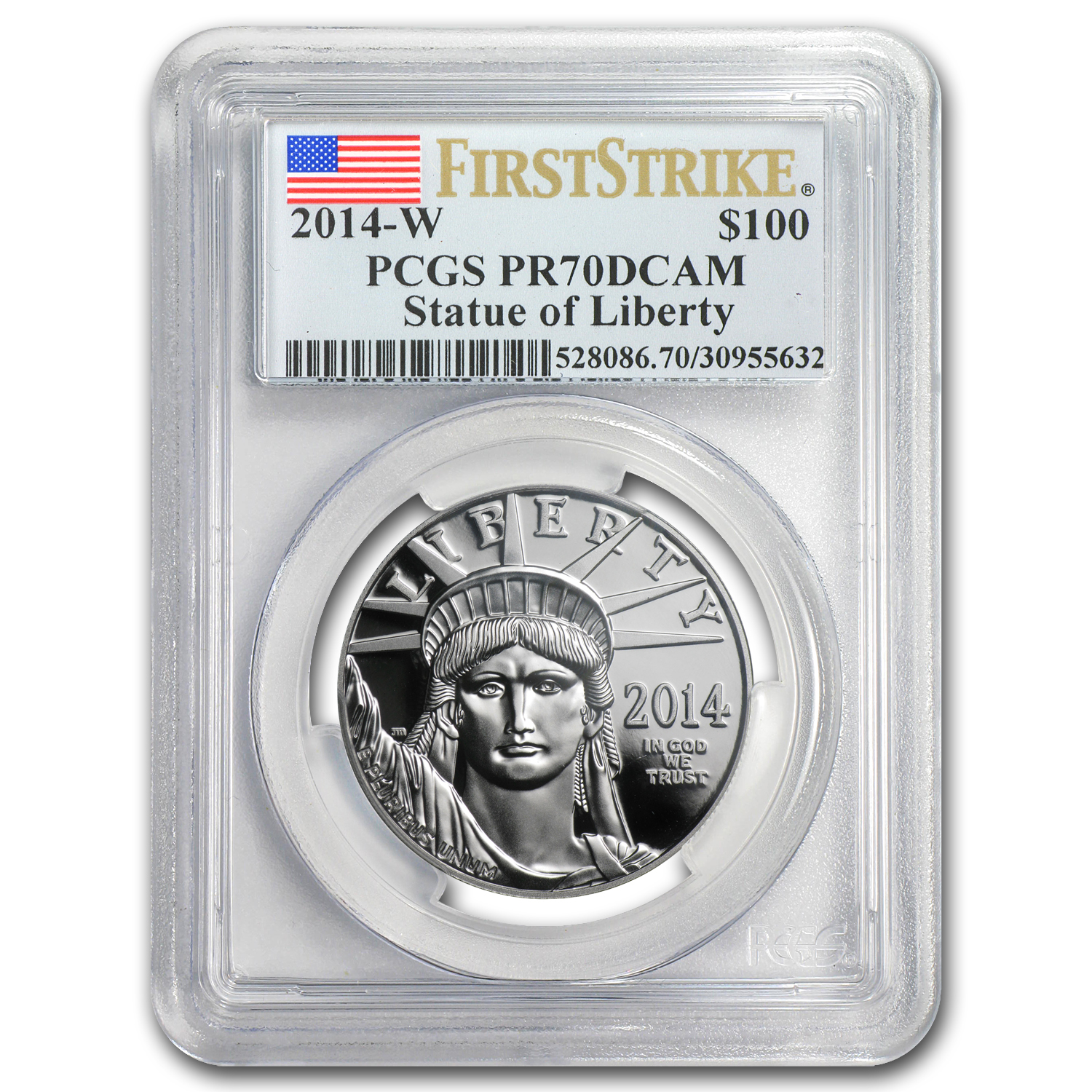 2014-W 1 oz Prf Platinum American Eagle PR-70 PCGS (First Strike)
