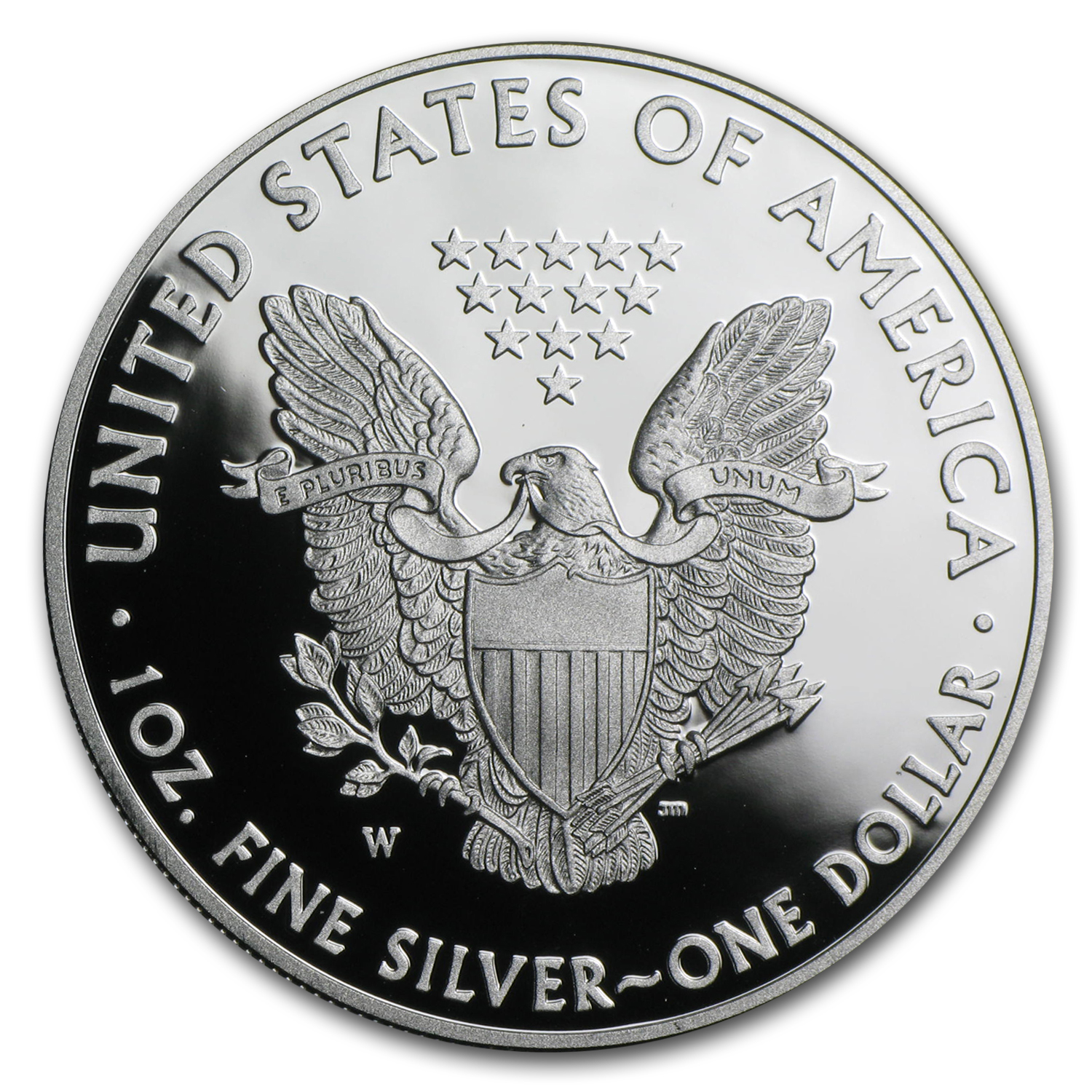 2014-W (Proof) Silver American Eagle (w/Box & CoA)
