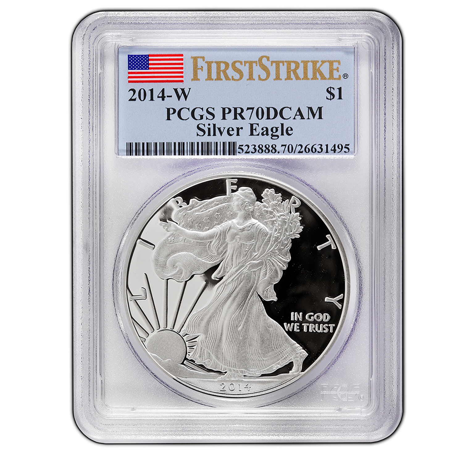 2014-W Proof Silver American Eagle PR-70 PCGS First Strike