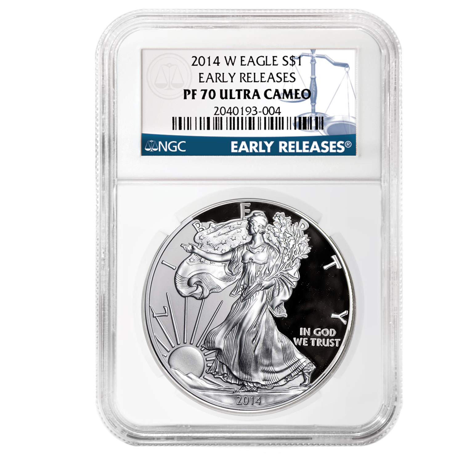 2014-W (Proof) Silver American Eagle PF-70 NGC UCAM Early Release