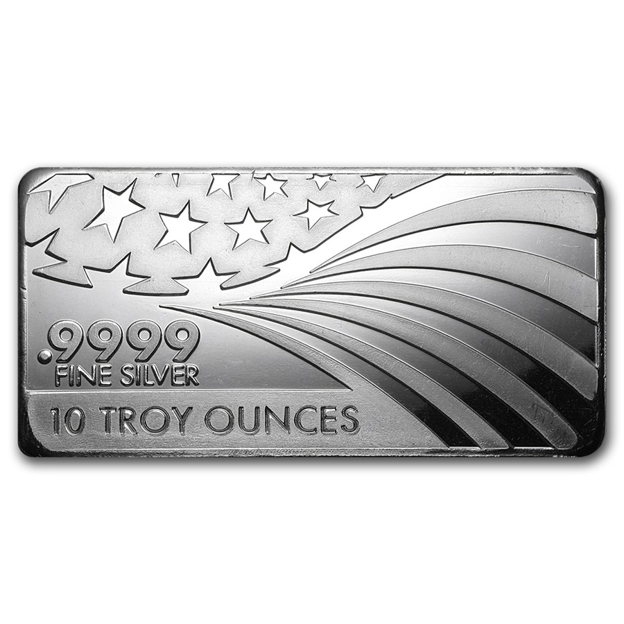 Buy Apmex 10 Oz Silver Bar For Sale 9999 Fine Silver