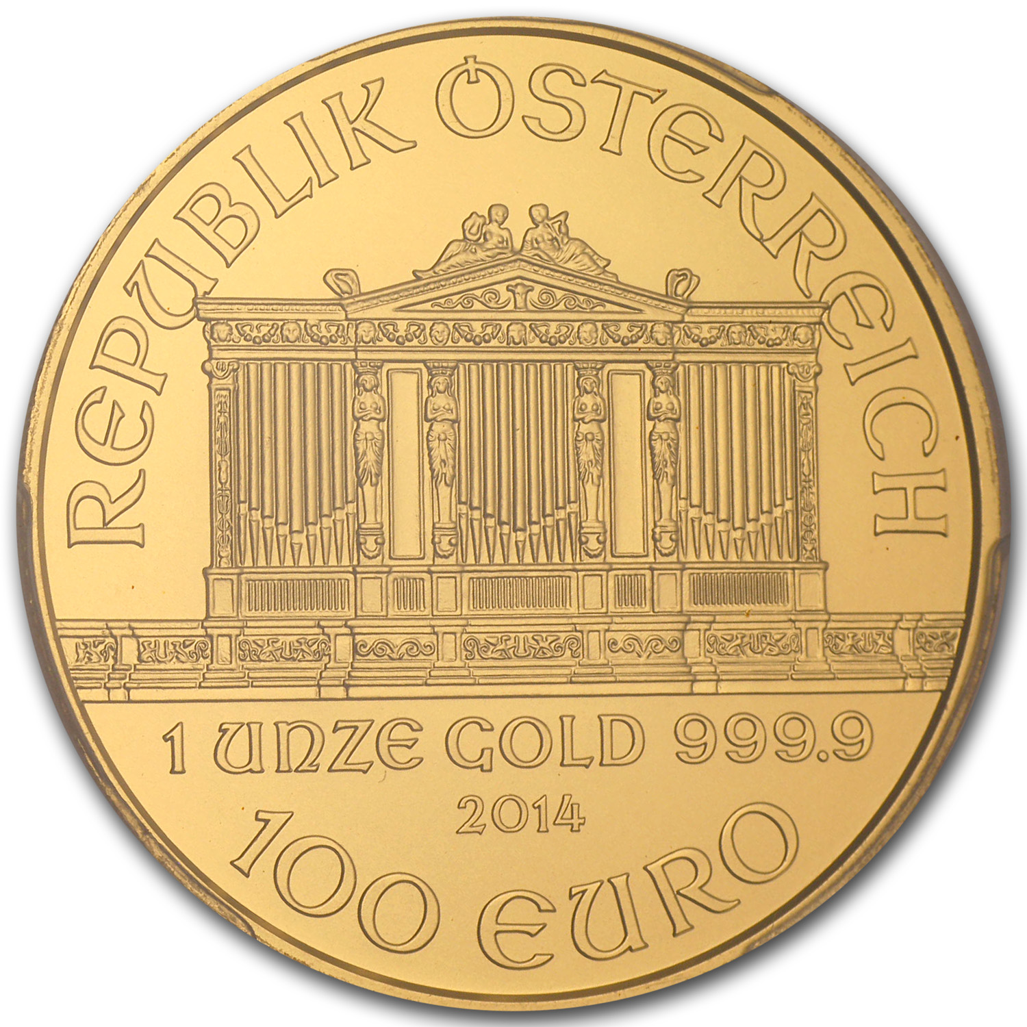 2014 Austria 1 oz Gold Philharmonic MS-69 PCGS