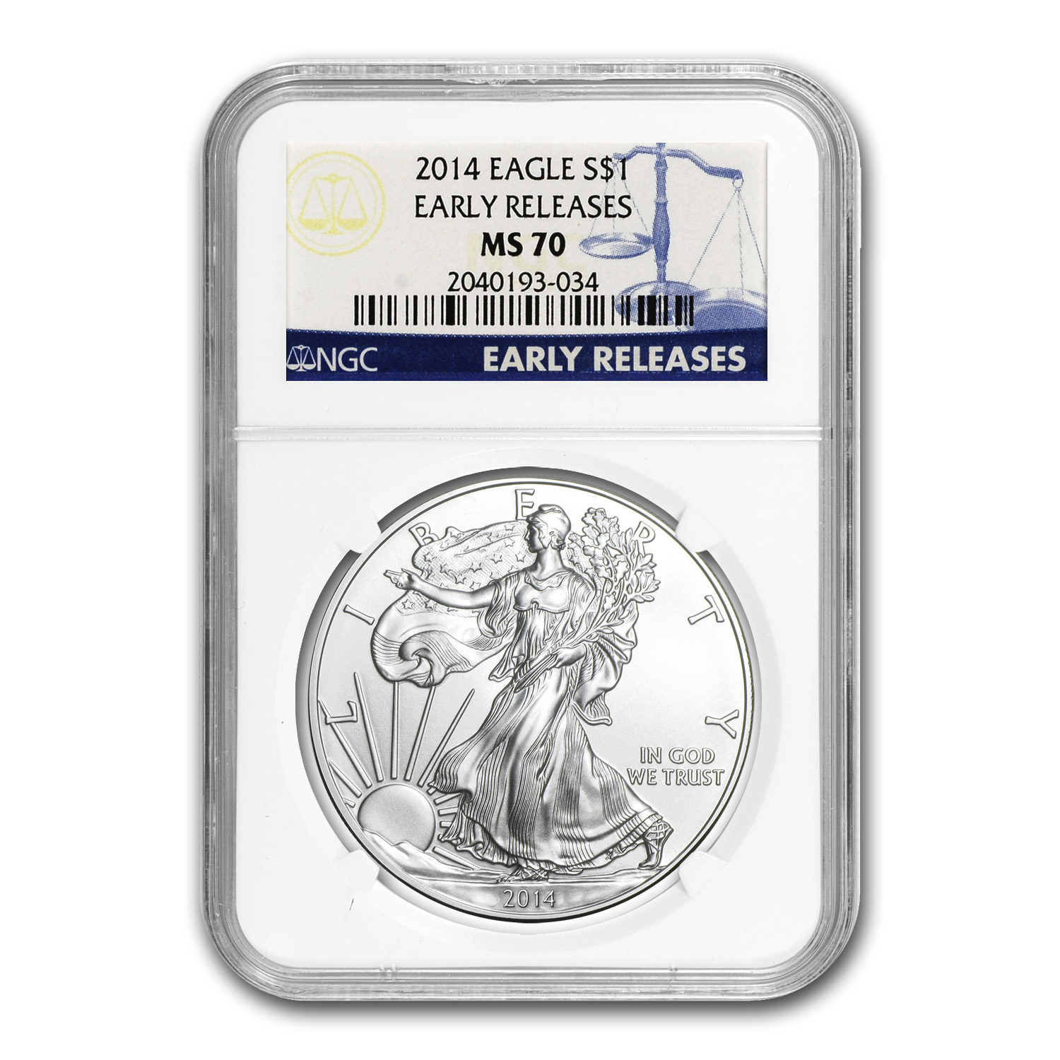 2014 Silver American Eagle MS-70 NGC (Early Releases)