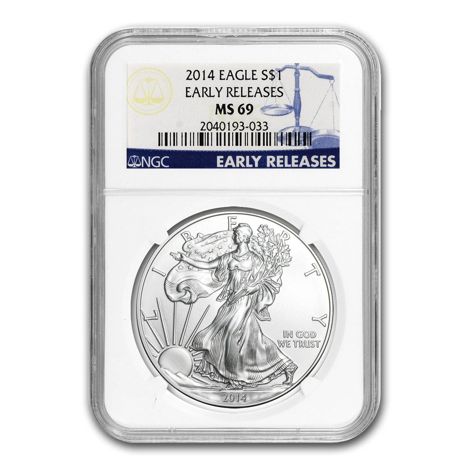 2014 Silver American Eagle MS-69 NGC Early Releases