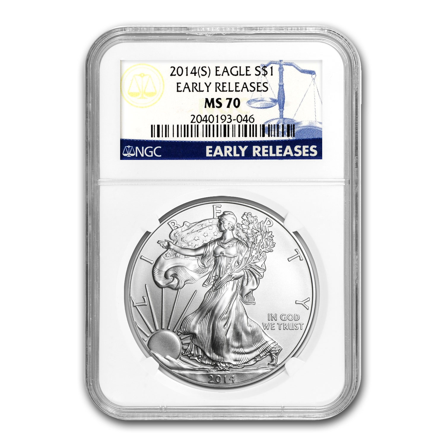 2014 (S) Silver American Eagle MS-70 NGC (Early Releases)