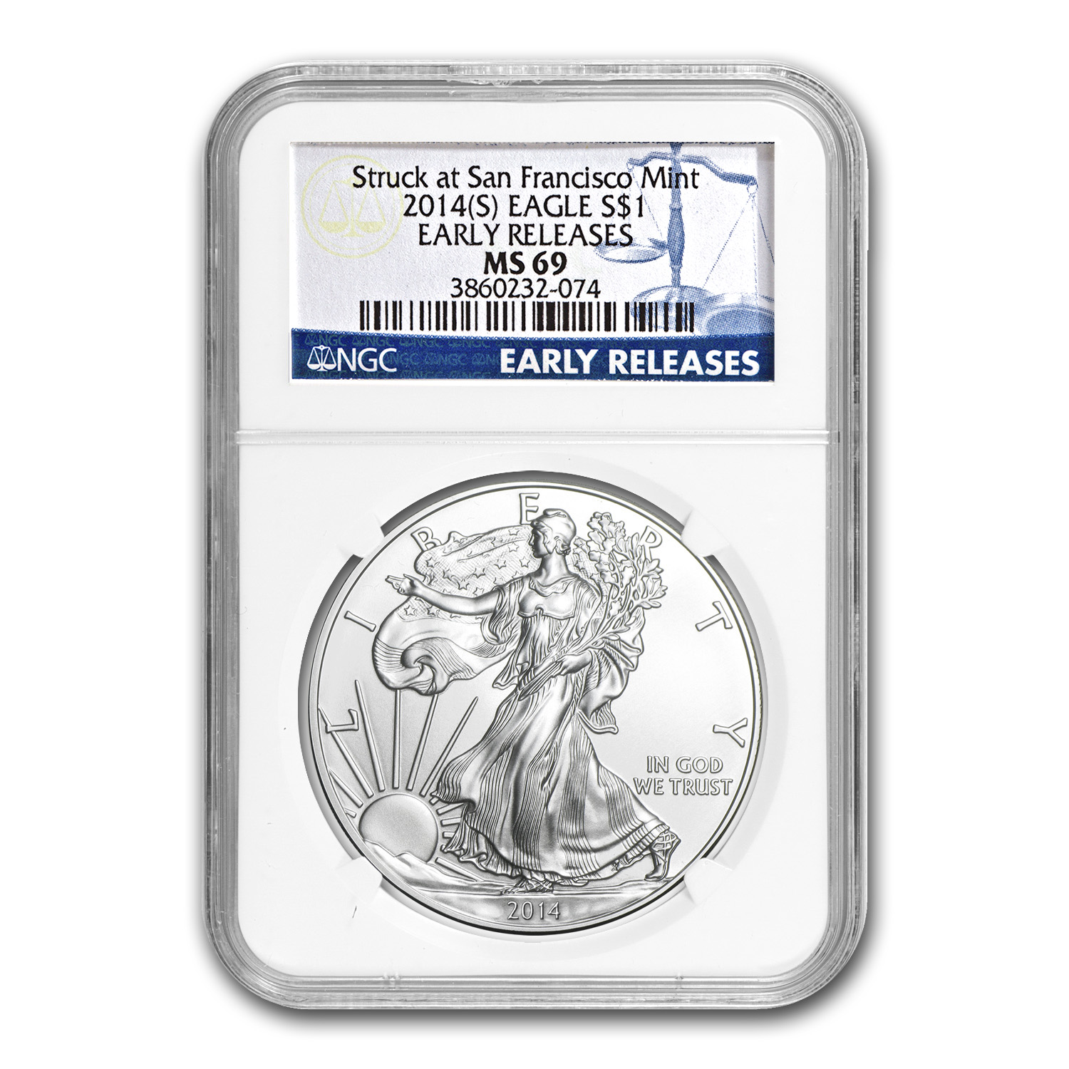 2014 (S) Silver American Eagle MS-69 NGC (Early Releases)