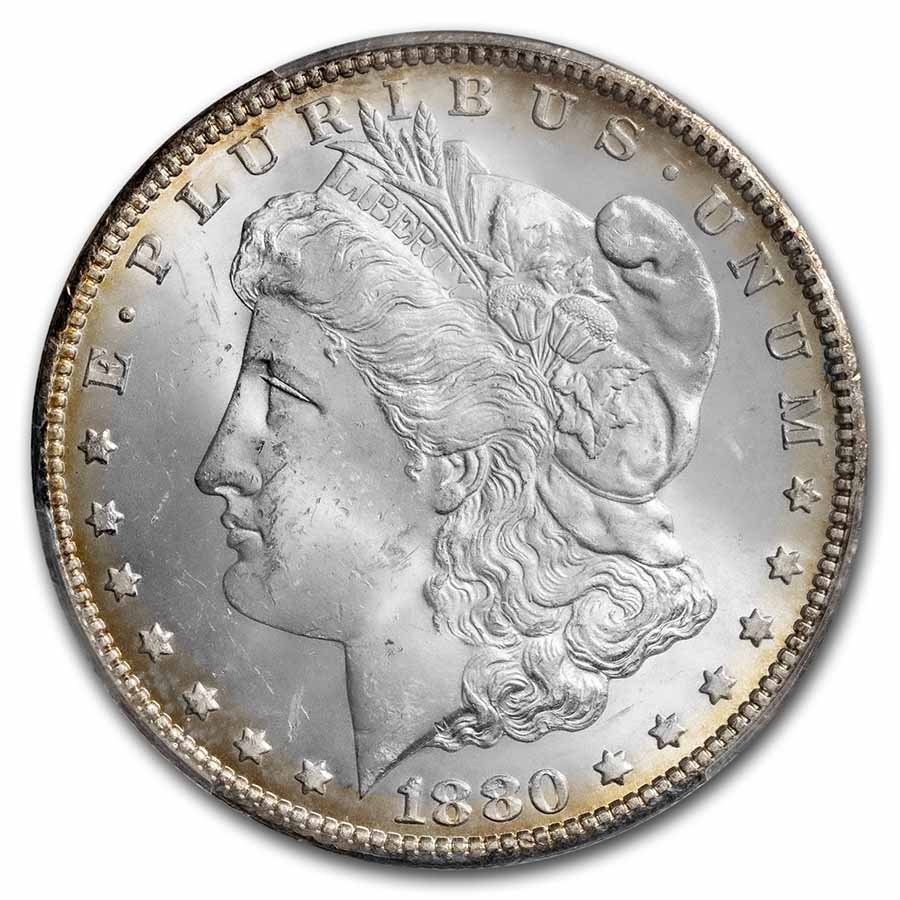 1880-CC Morgan Dollar 8/High 7 MS-63 PCGS