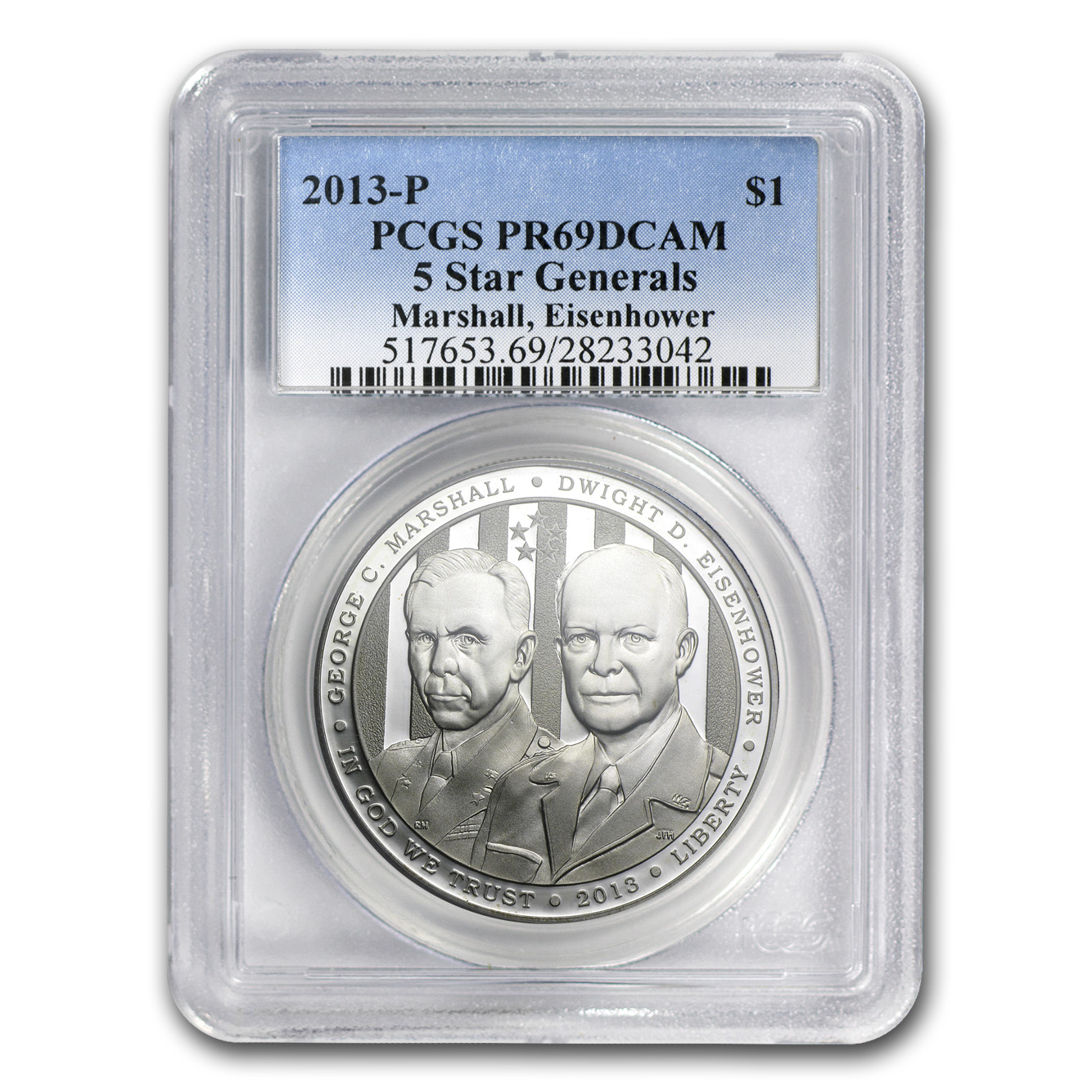 2013-P Five Star General $1 Silver Commem PR-69 DCAM PCGS