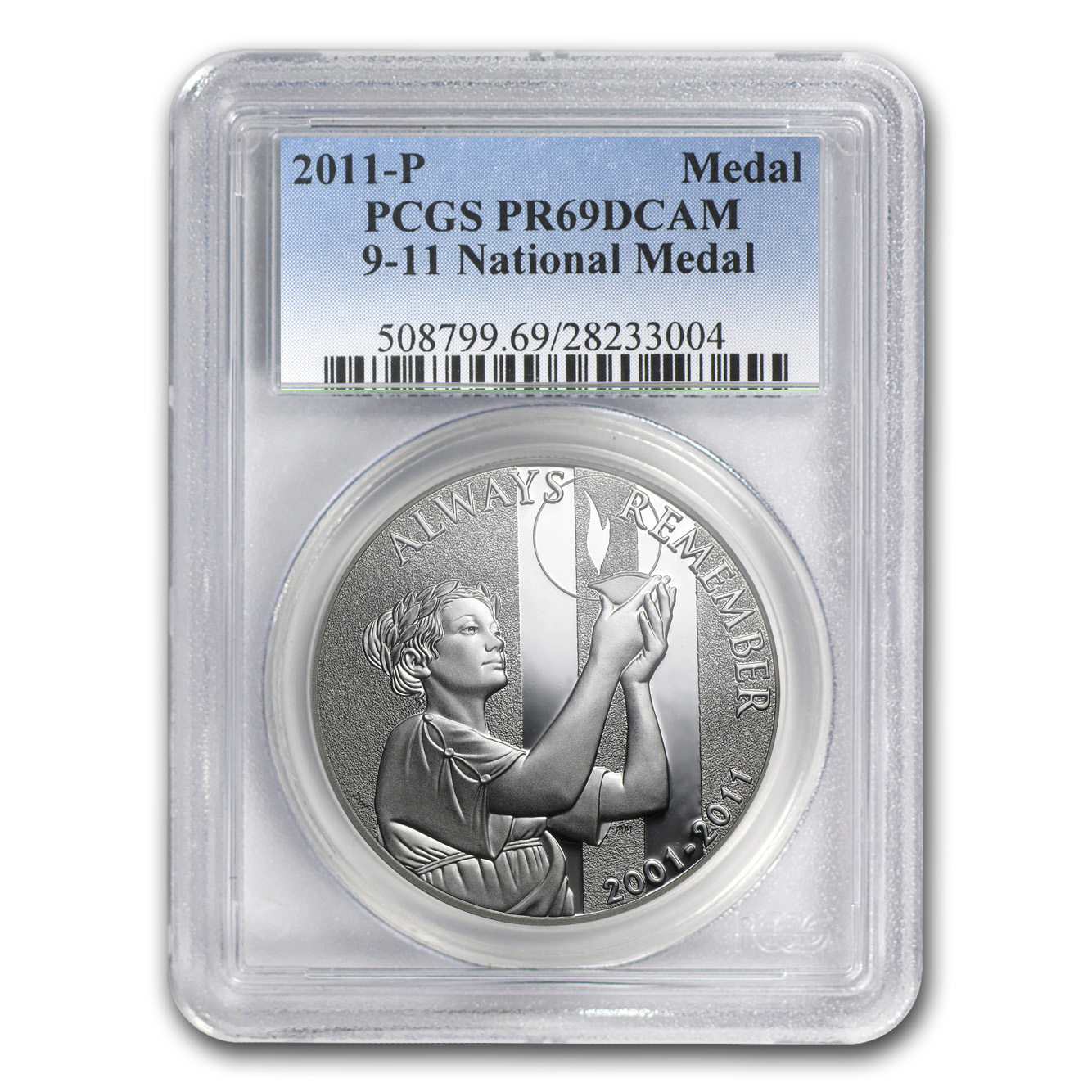2011-P 9/11 National Medal - PR-69 DCAM PCGS