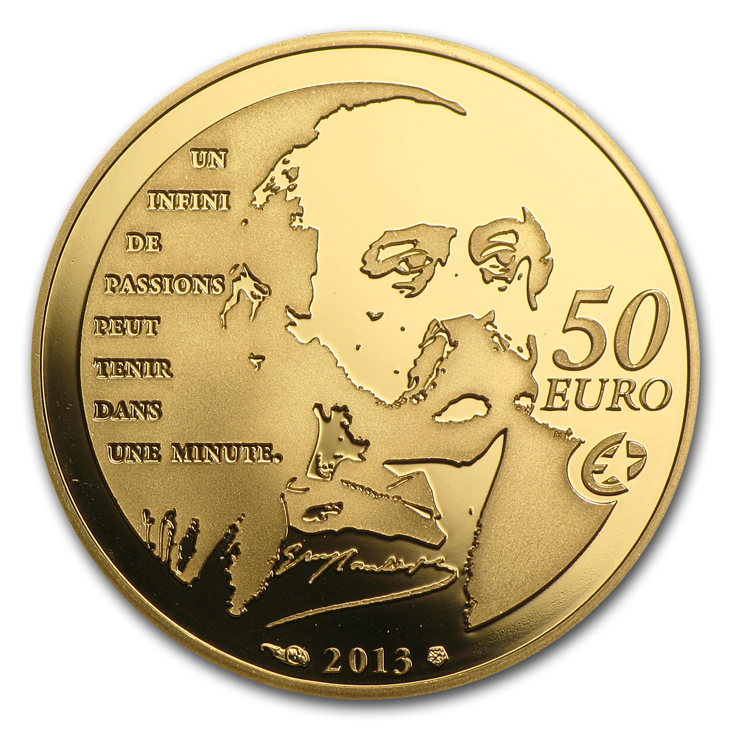 2012 1/4 oz Gold Heroes of French Literature- Madame Bovary