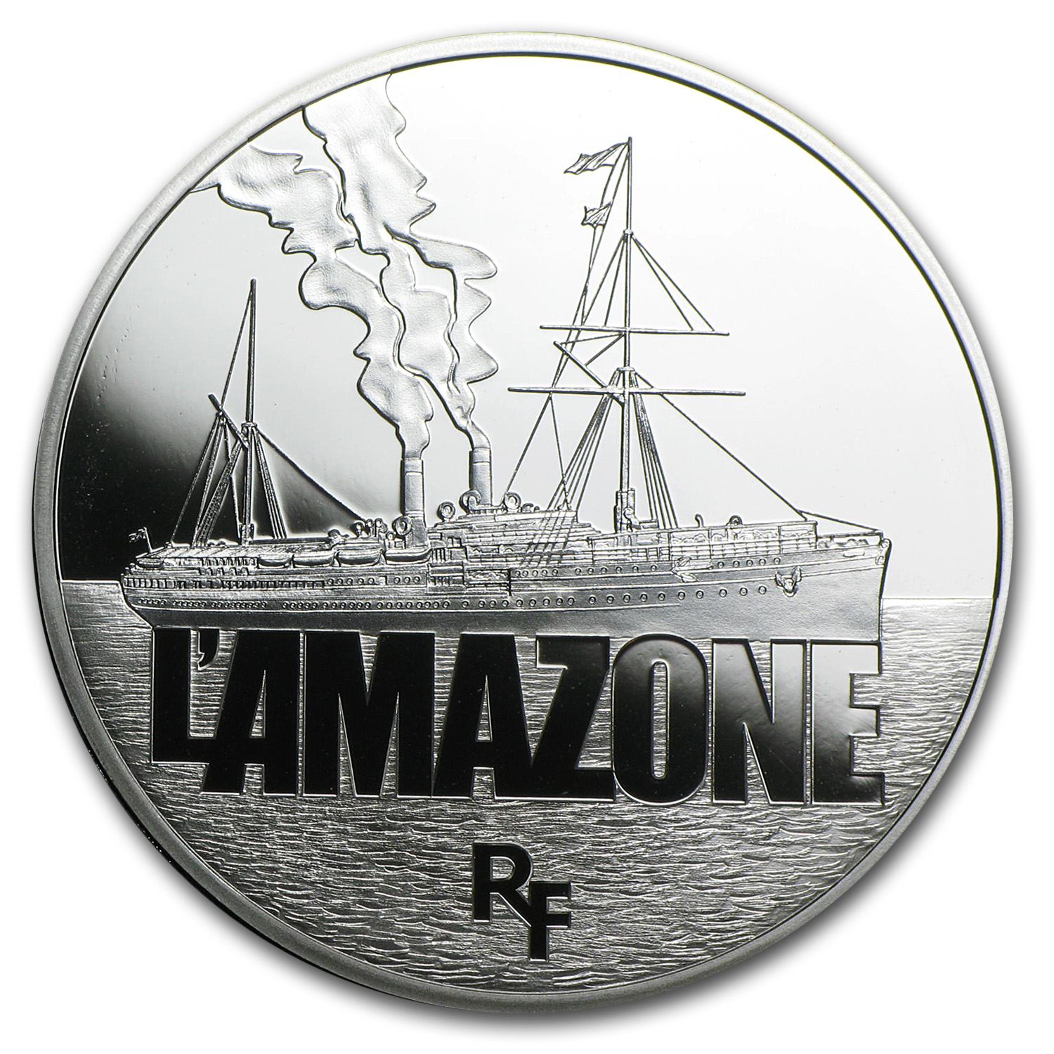 2013 Silver €10 Great French Ships Proof (L'Amazone)