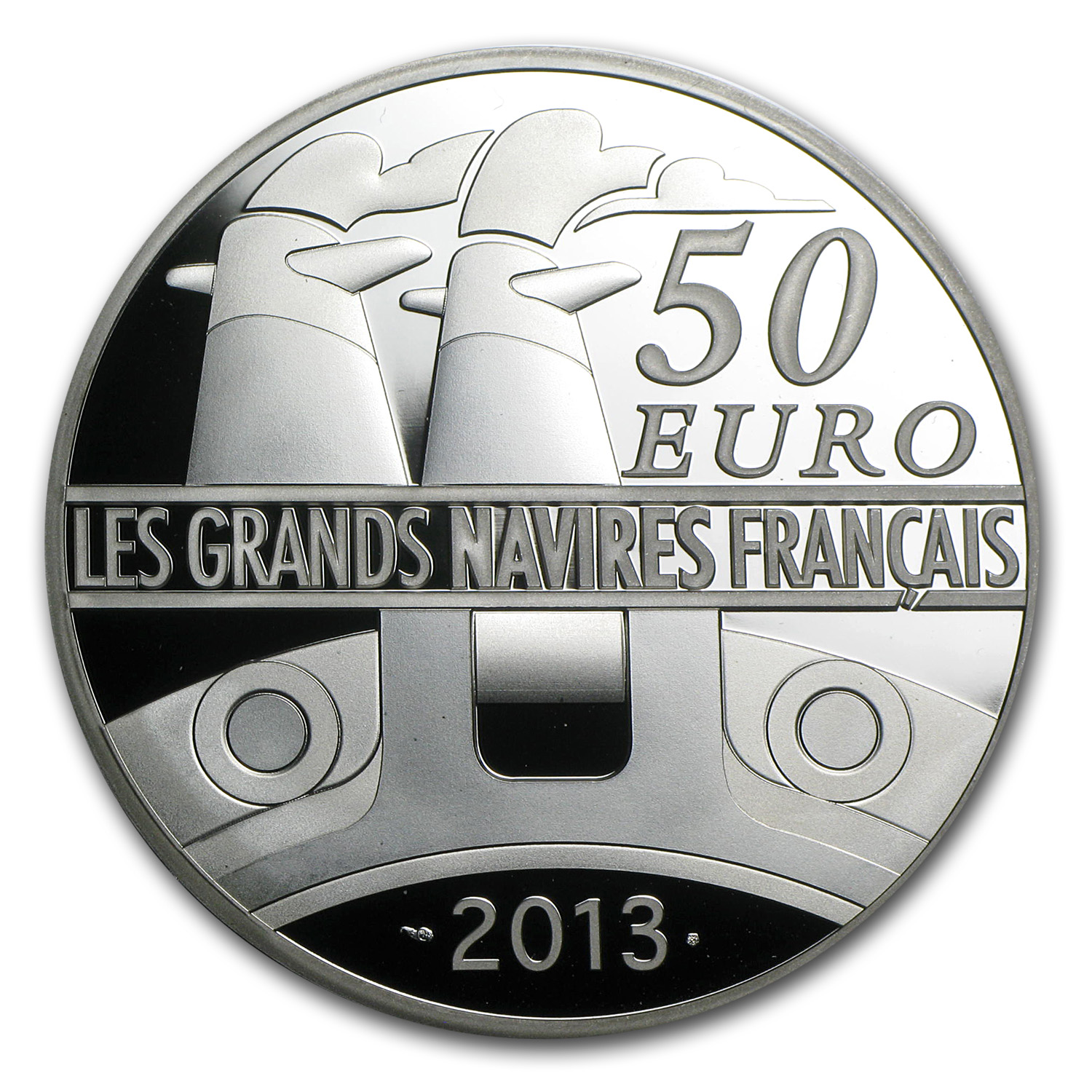 2013 5 oz Silver Proof Great French Ships - L'Amazone