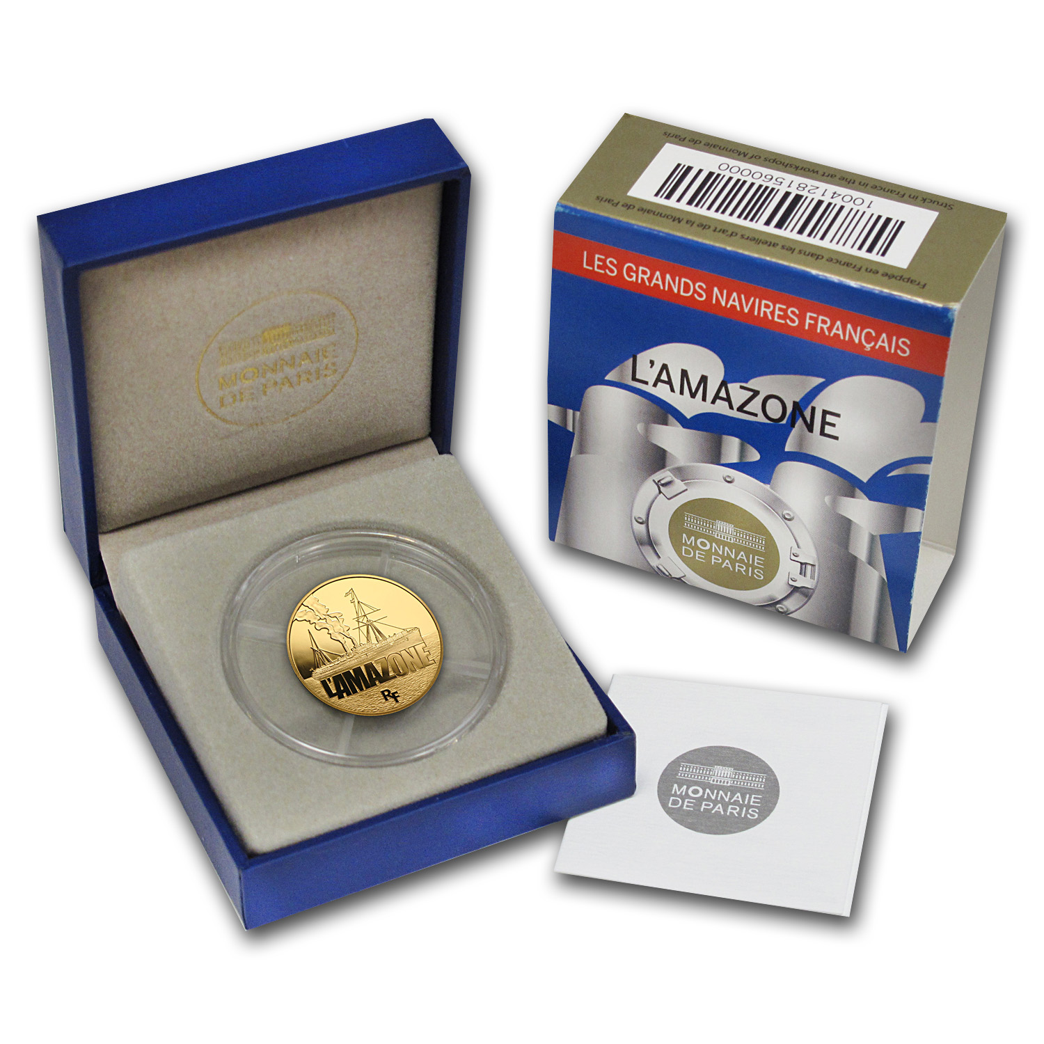 2013 1/4 oz Gold Proof Great French Ships - L'Amazone