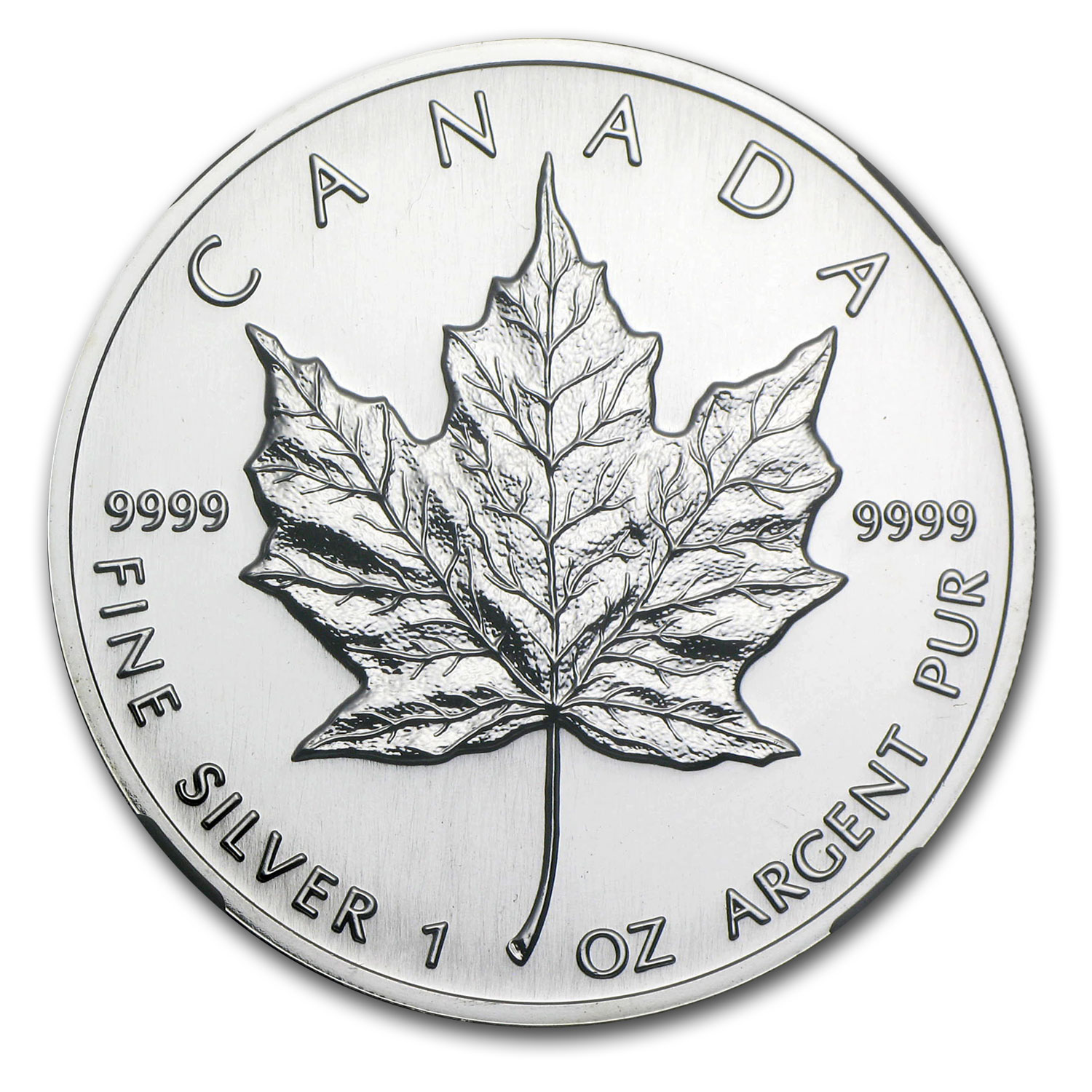 1993 1 oz Silver Canadian Maple Leaf MS-68 NGC