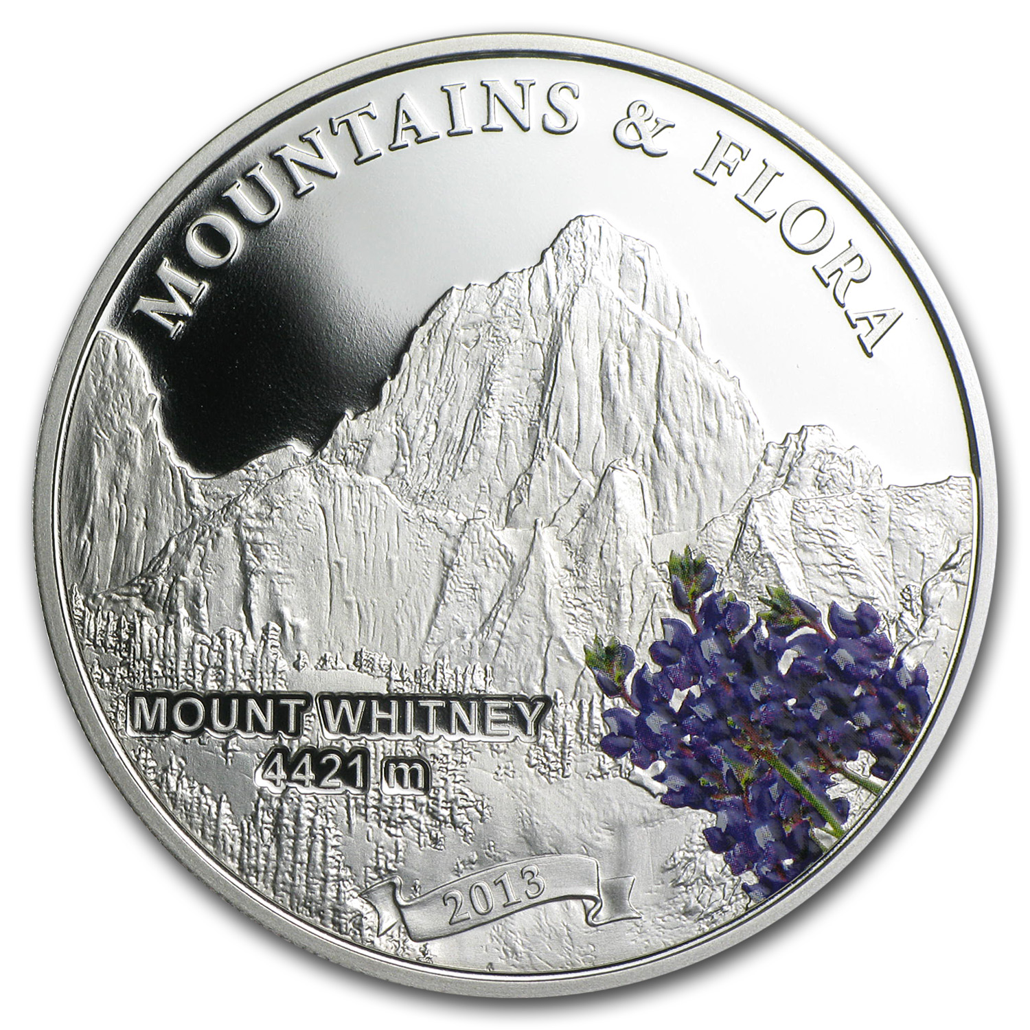 Palau 2013 Silver Proof Mountains & Flora - Mount Whitney